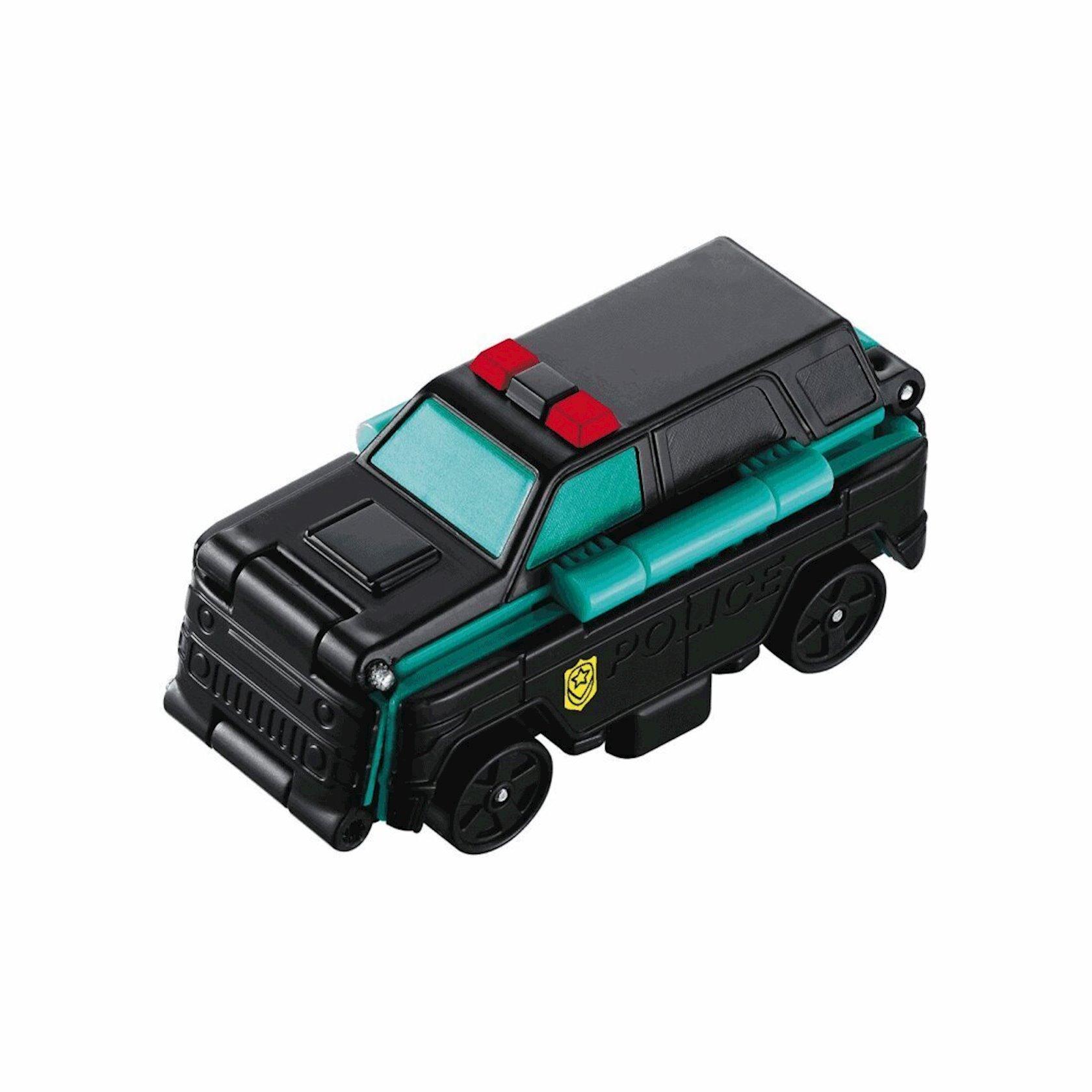Maşın-transformer TransRacers Jeep & Tanker Truck, 3+ yaş, plastik, qara/göy