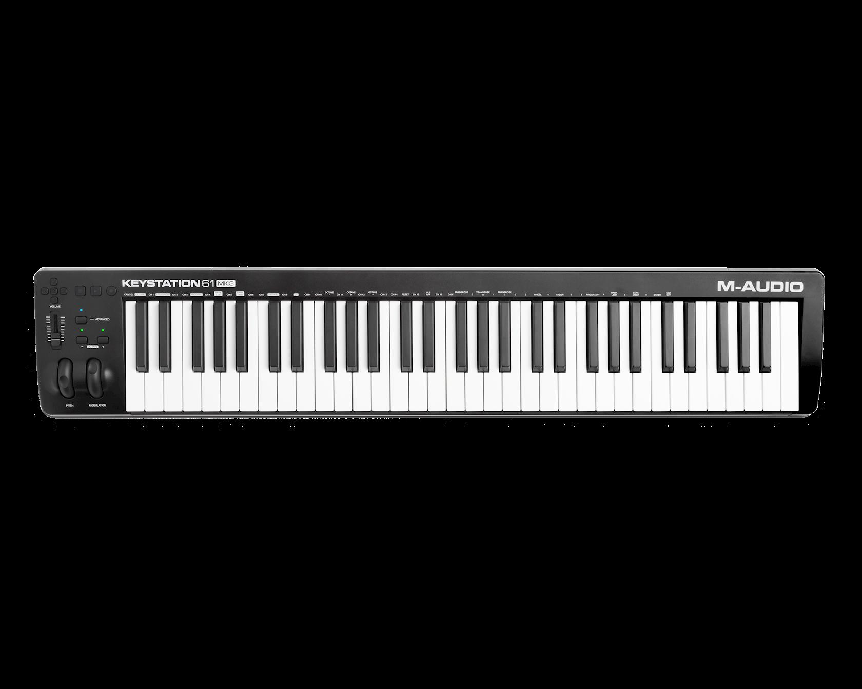 Midi-kontroller M-Audio Keystation 61 MK3, 61 klaviş, 4.1 kq, ağ/qara, 995x68x189 mm