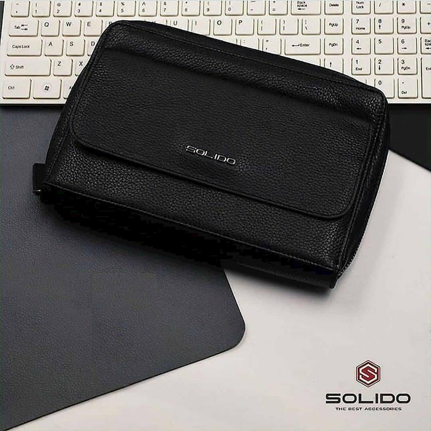 Dəri borsetkası Solido YD6012BK, qara
