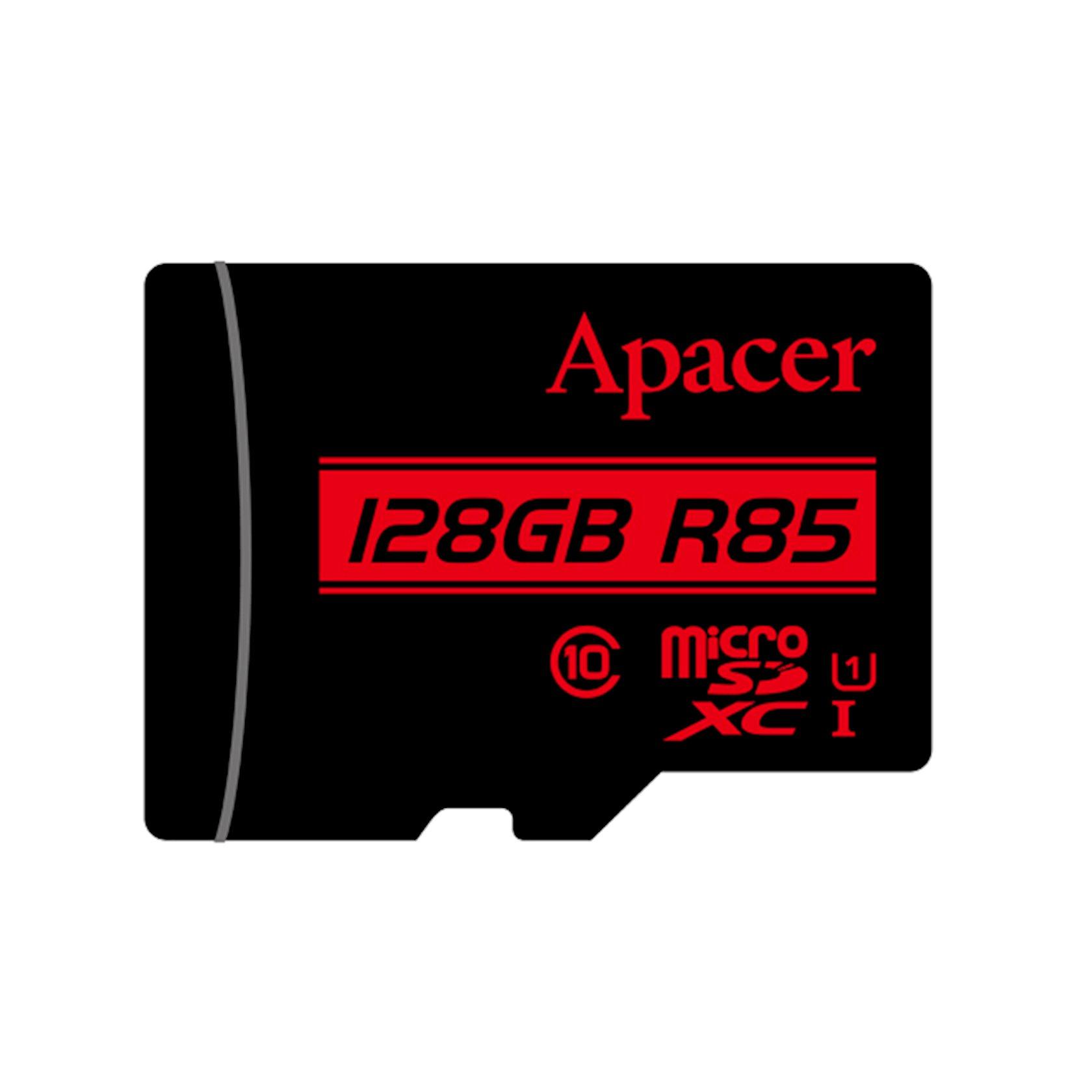 Yaddaş kartı Apacer 128 Gb microSdxc/Sdhc Uhs-I U1 Class 10 (R85 Mb/s) + SD adapter
