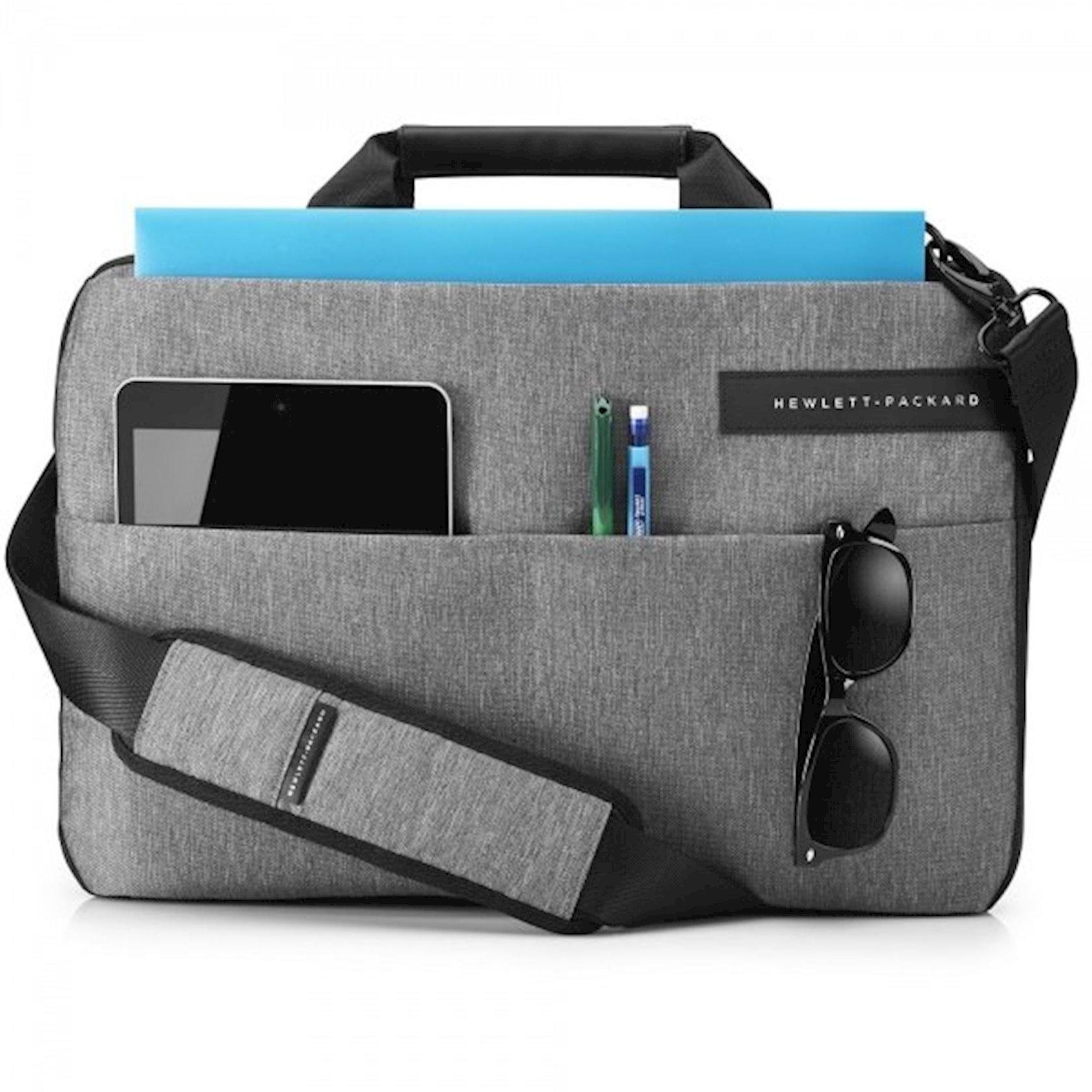 Noutbuk üçün çanta 14 HP Signature Slim Topload, qara/boz
