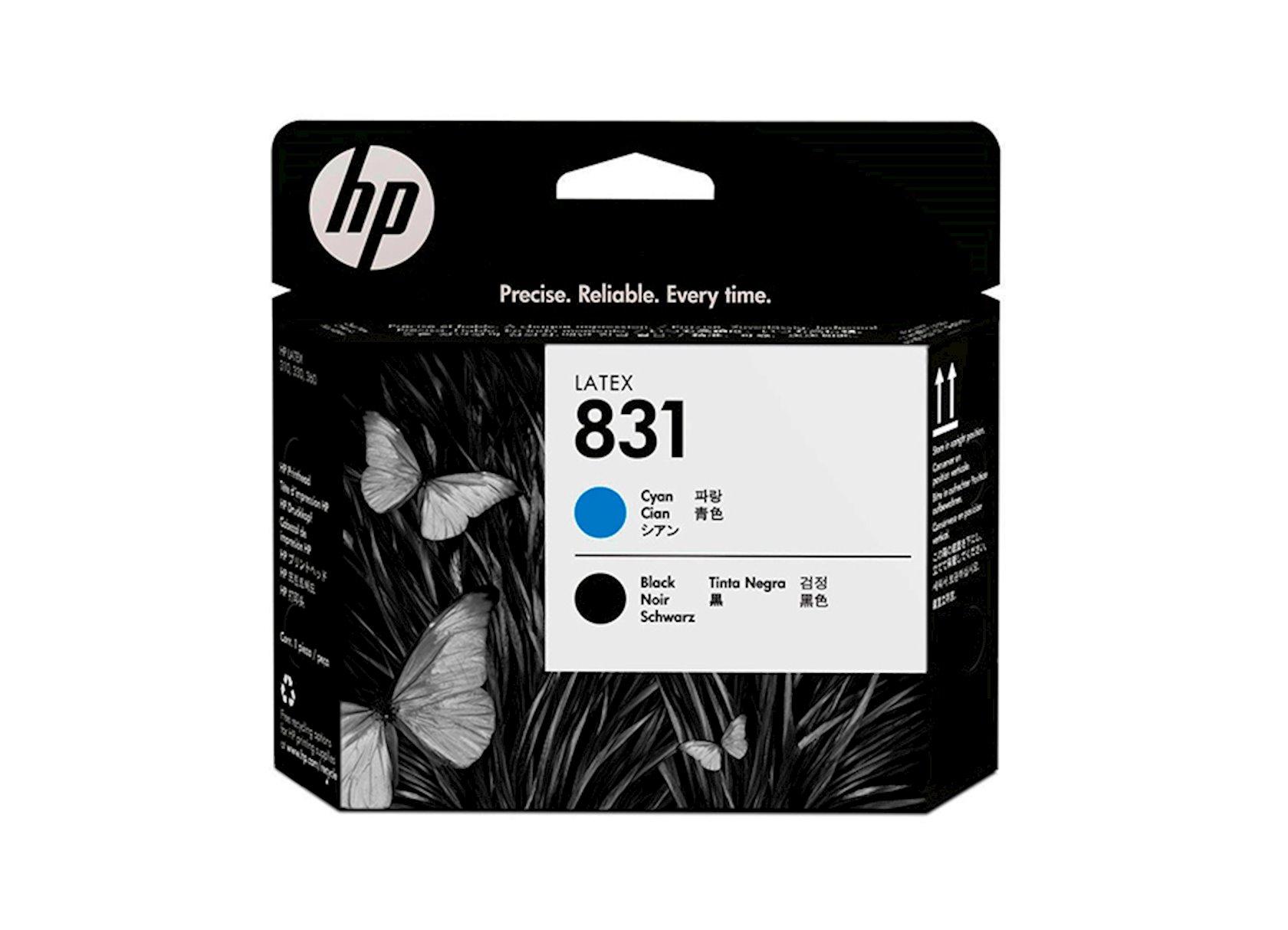 Çap edən başlıq HP 831 CZ677A Mavi/Qara