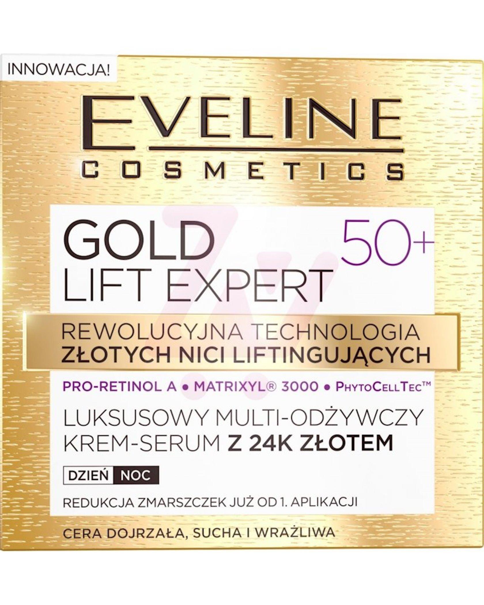 Multi-qidalandırıcı krem 50+ Eveline Cosmetics Gold Lift Expert 50+