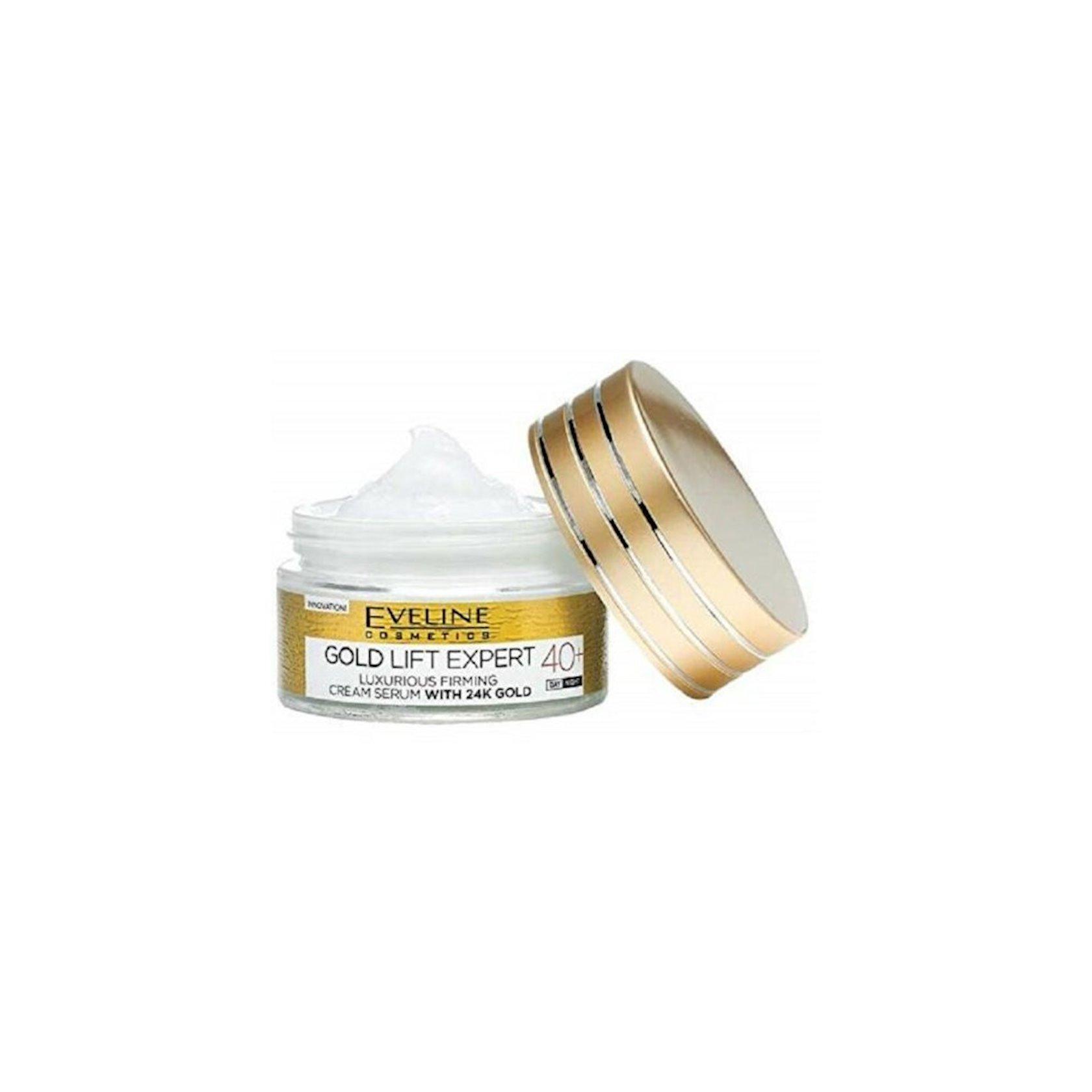 Möhkəmləndirən krem-zərdab Eveline Cosmetics Gold Lift Expert 40+