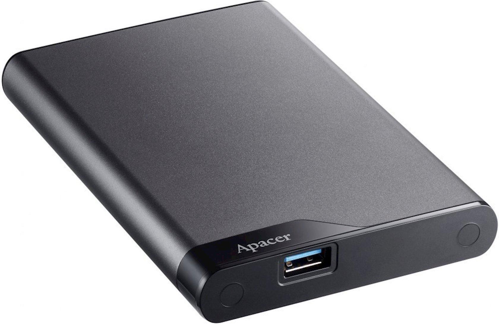 Xarici sərt disk Apacer 1 TB USB 3.1 Gen 1 Portable Hard Drive AC632 Gray Shockproof