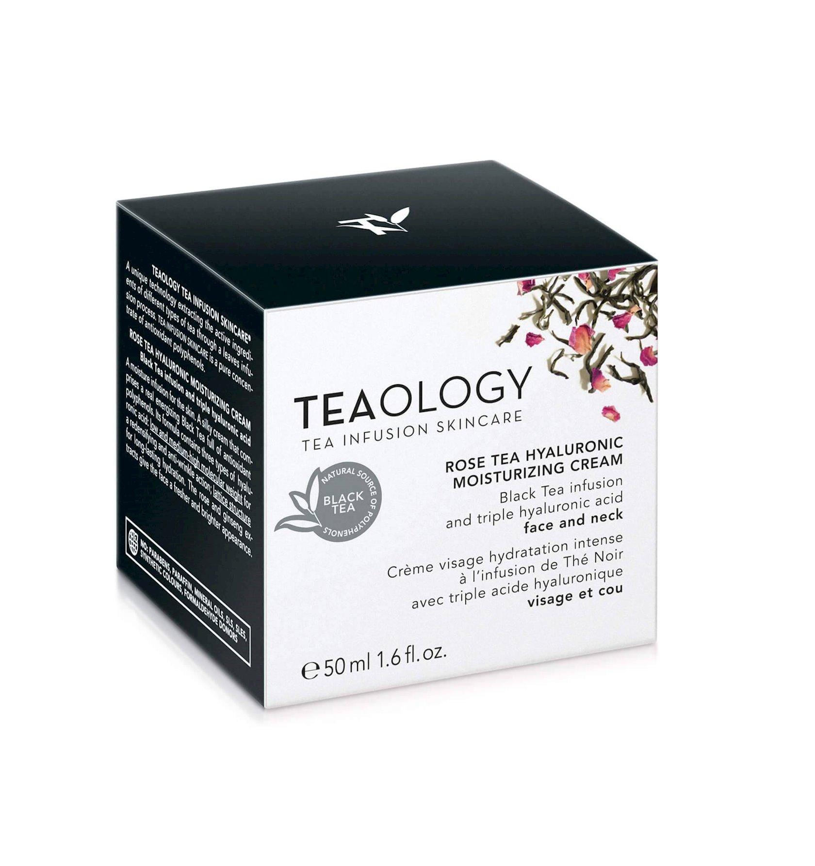 Üz və boyun üçün nəmləndirici krem Teaology Hyaluronic Rose Tea 50 ml