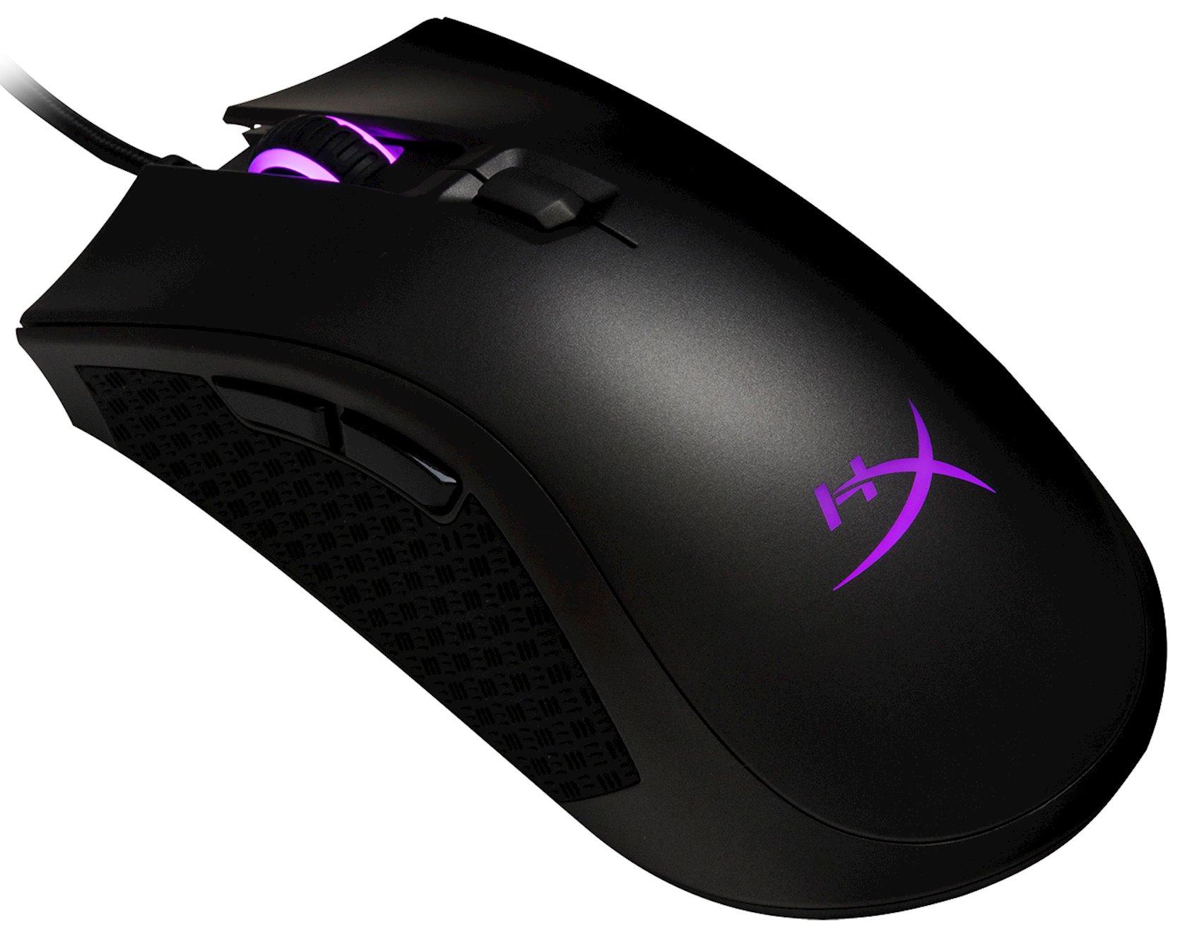 Kompüter siçanı Kingston HyperX Pulsefire FPS Pro RGB Gaming Black