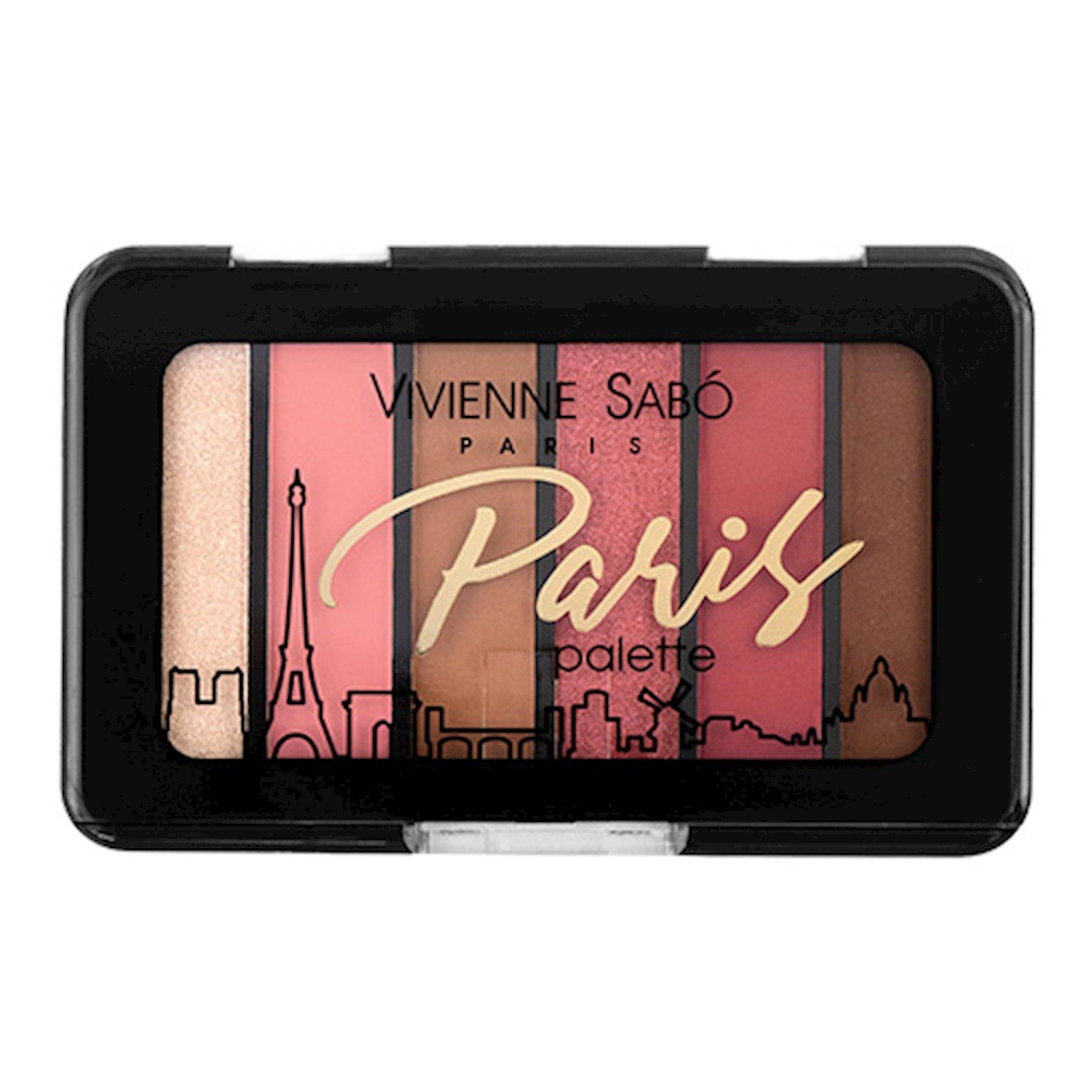Göz kölgələri paleti Vivienne Sabo Eyeshadow Mini Palette Paris №04