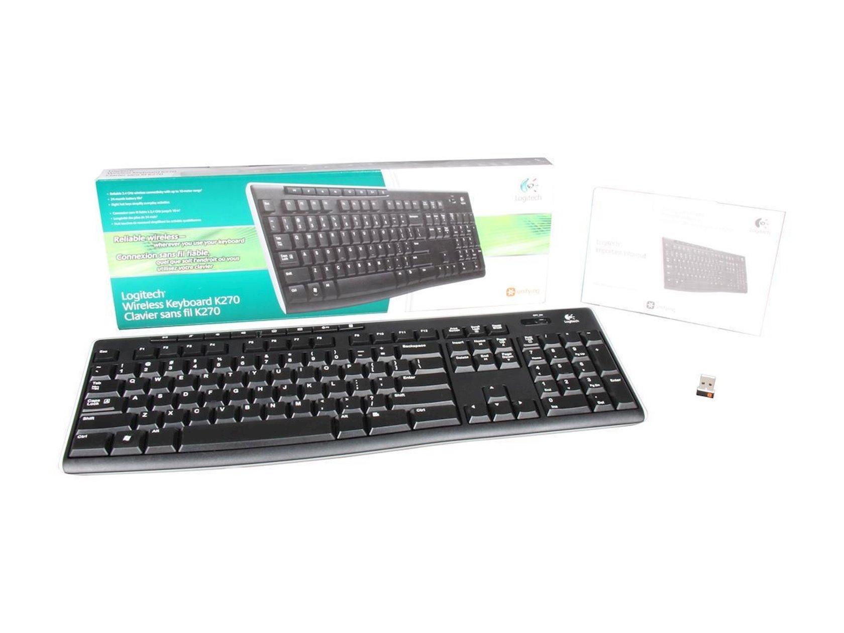 Klaviatura LOGITECH Wireless Keyboard K270