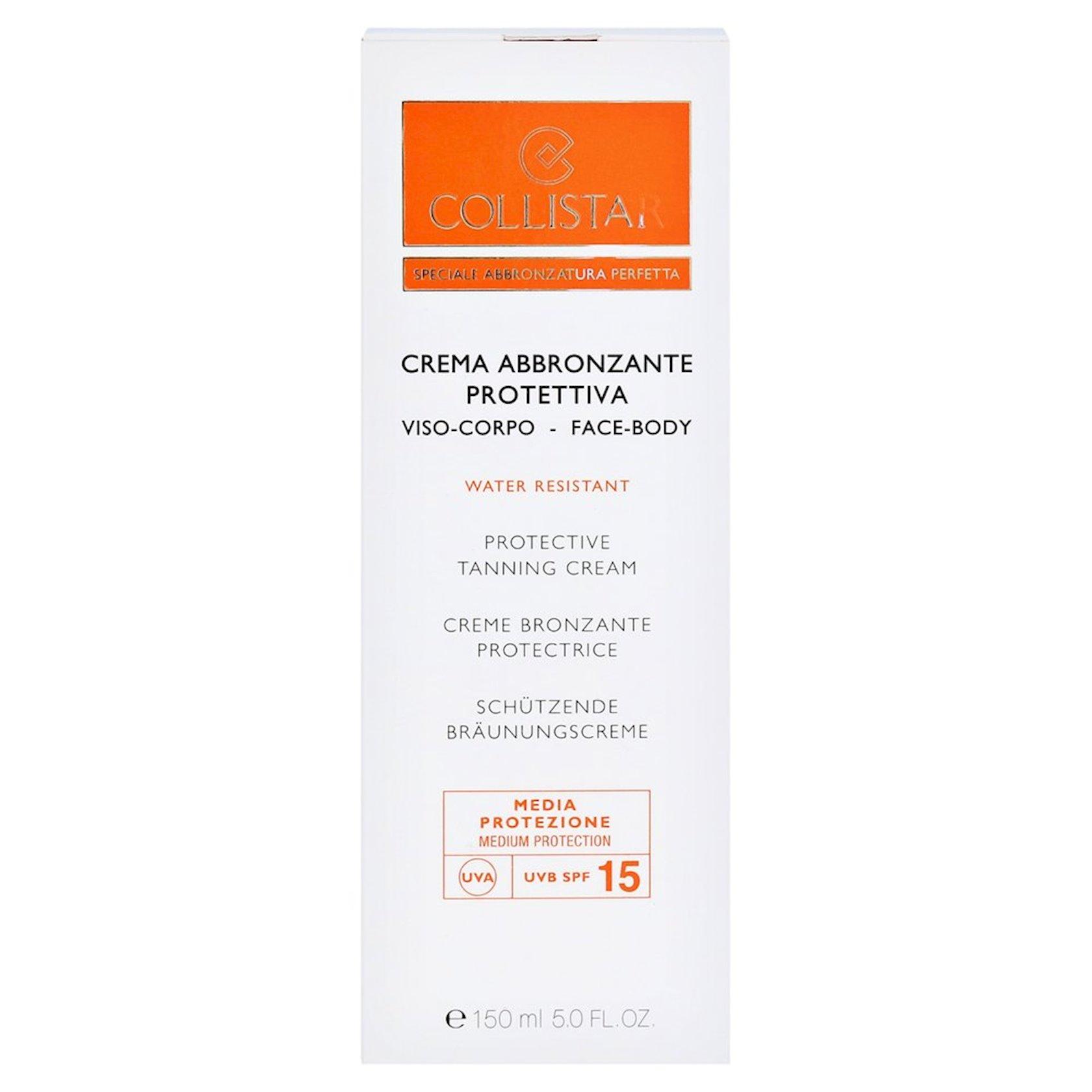 Günəşdən qoruyucu krem üz və bədən üçün Collistar Protection Tanning Cream, SPF 15 150 ml