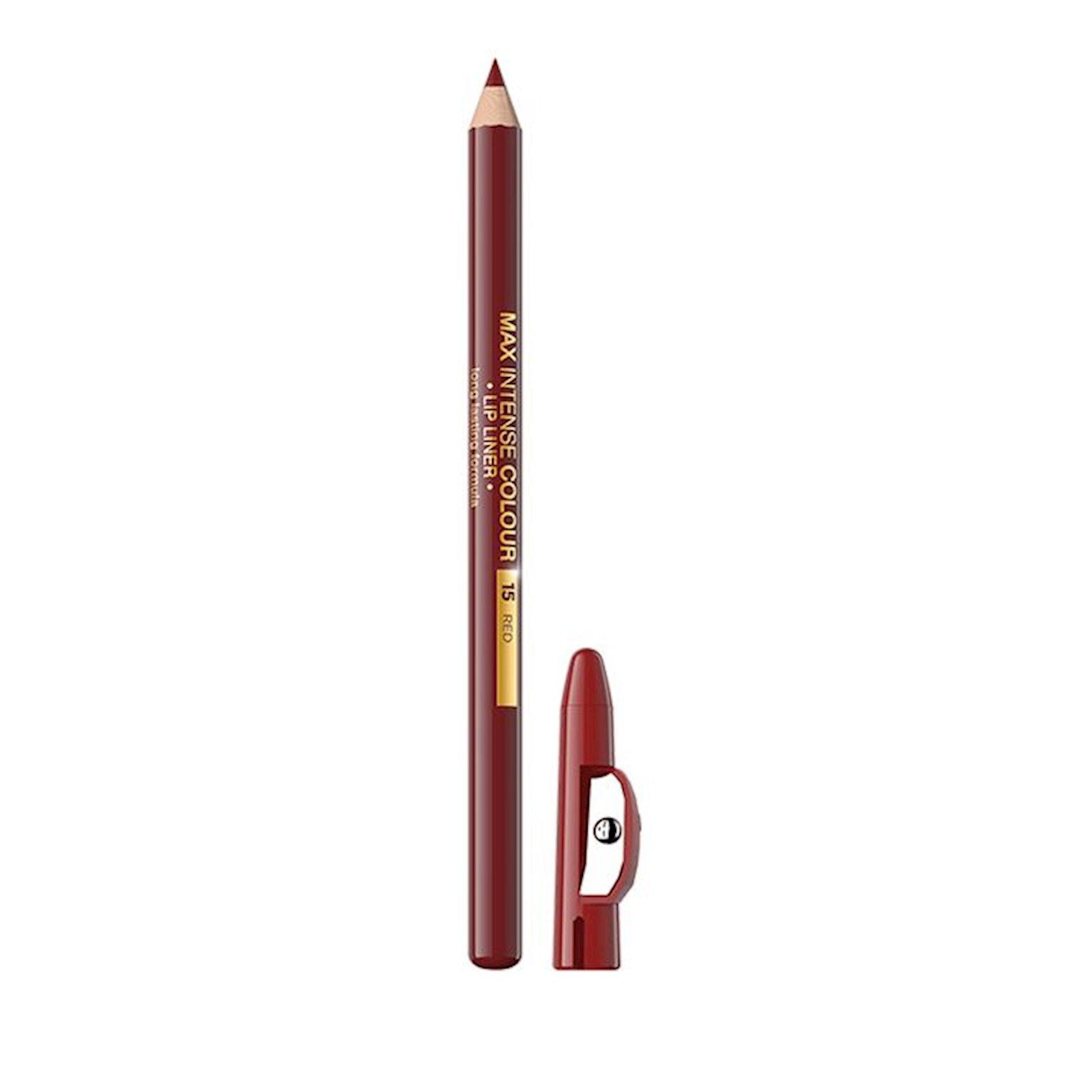 Dodaq layneri Eveline cosmetics Max intense colour 15 Red