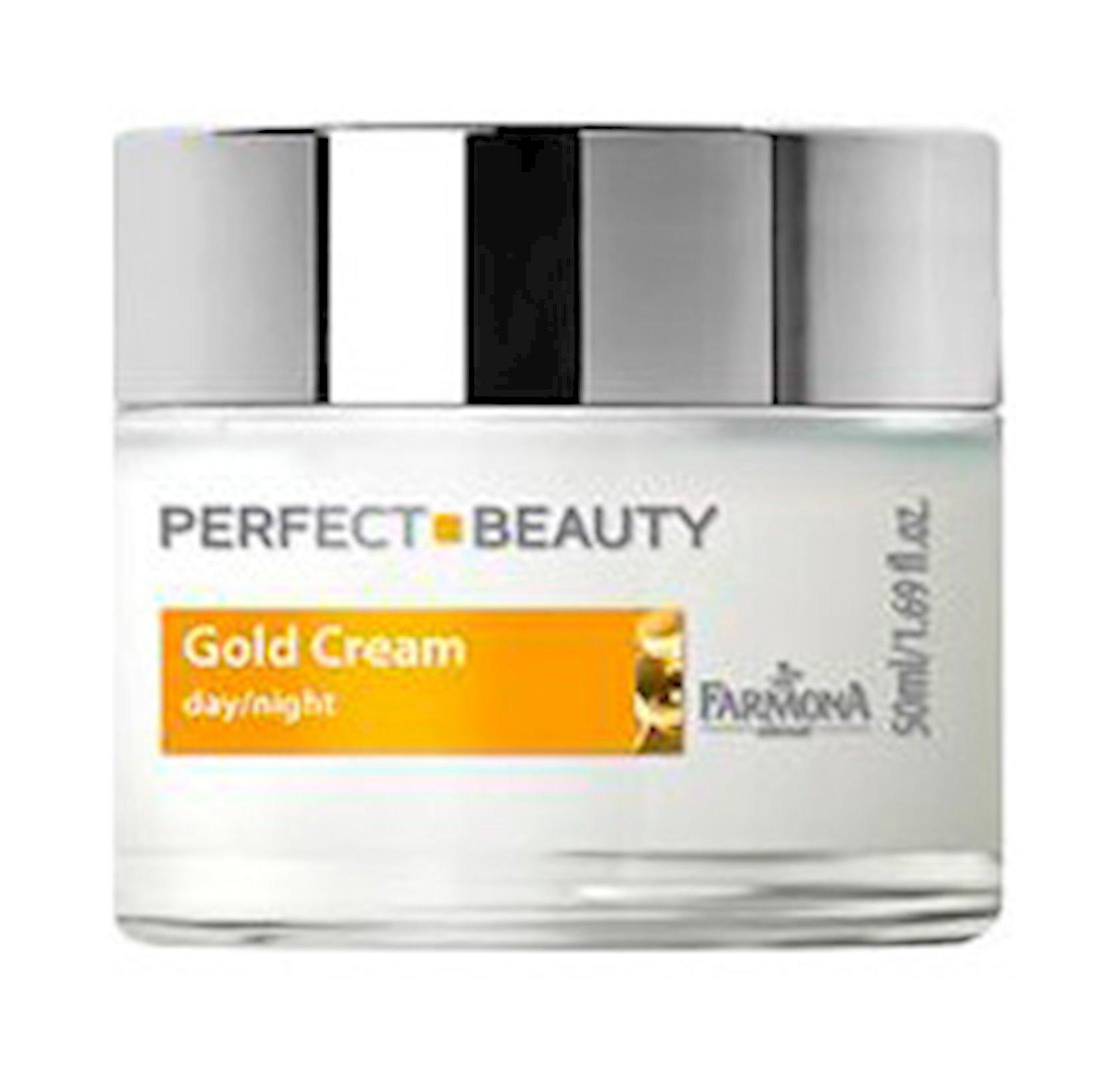 Cavanlaşdırıcı üz kremi gündüz/gecə Farmona Perfect Beauty Face Cream With Gold & Vitamin E Day/Night 50 ml