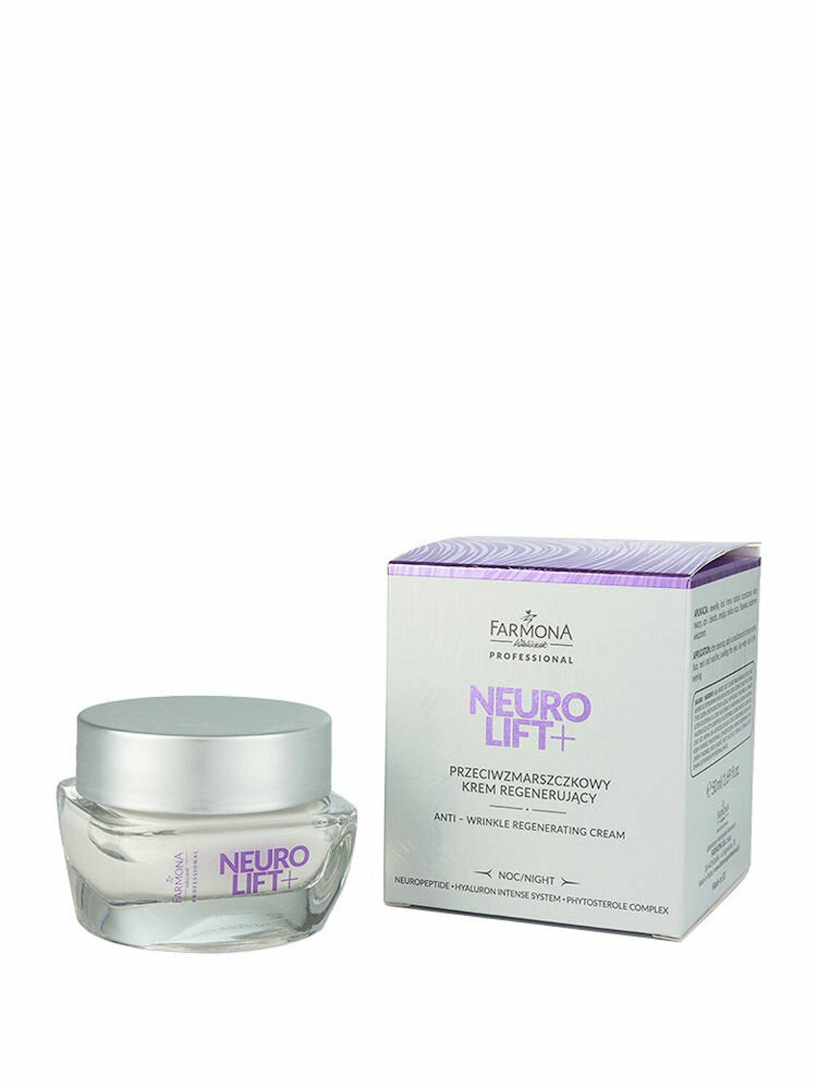 Hamarlayıcı gecə kremi Farmona Neuro Lift+ Anti-Wrinkle Regenerating Night Cream 50 ml