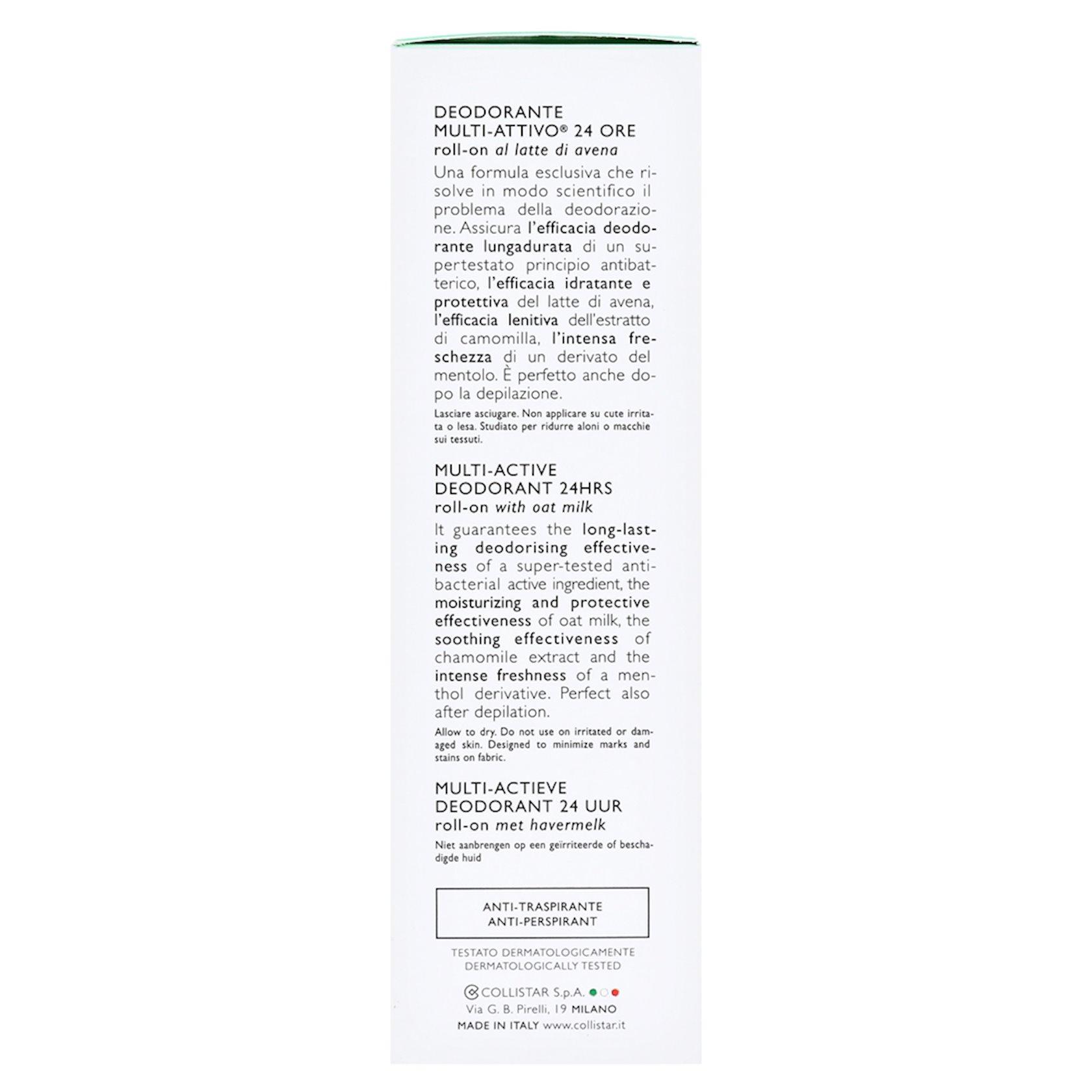 Multiaktiv dezodorant Collistar Multi-Active Deodorant 24h Roll On 75ml
