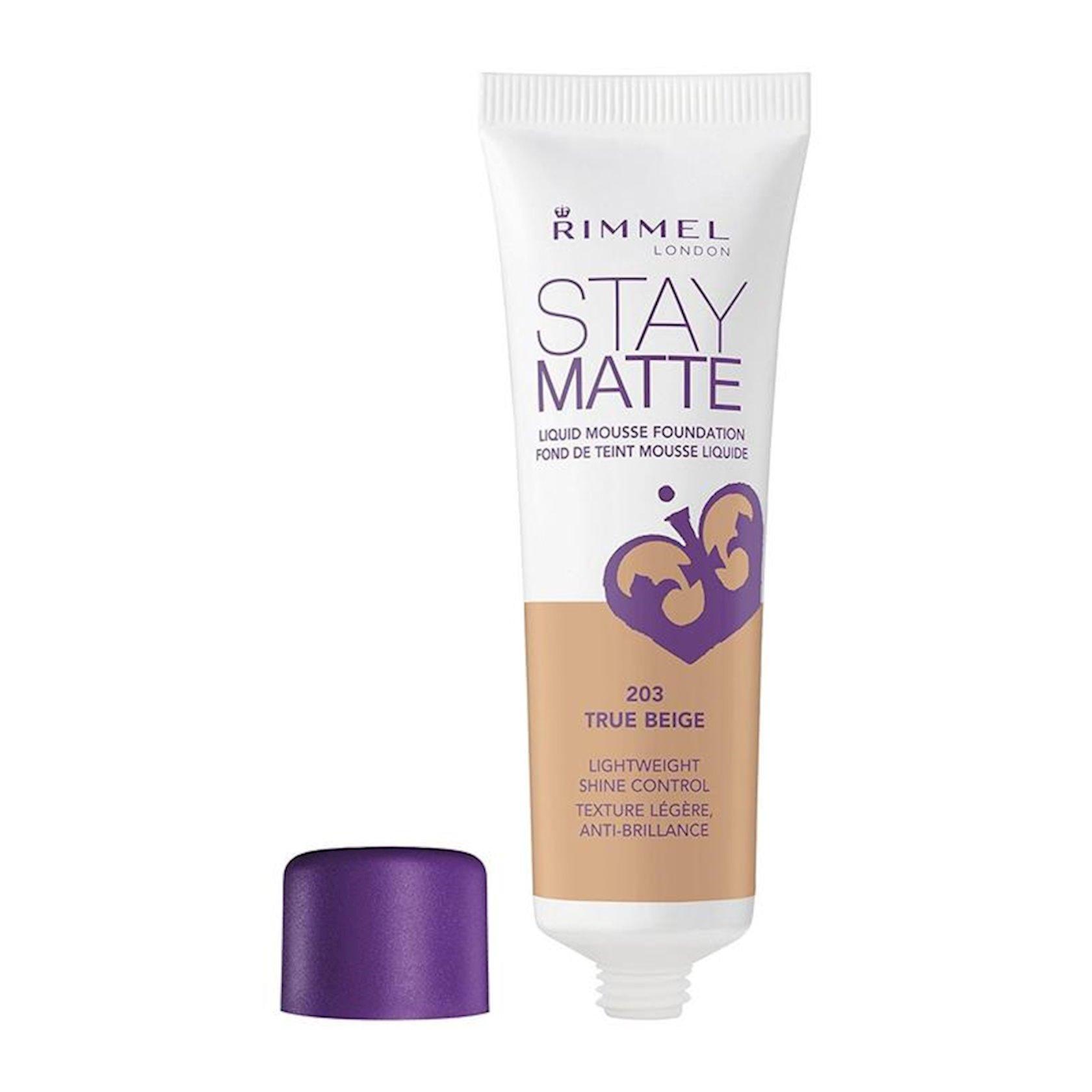 Tonal krem Rimmel Stay Matte Liquid Mousse Foundation  ton 203 True Beige 30 ml