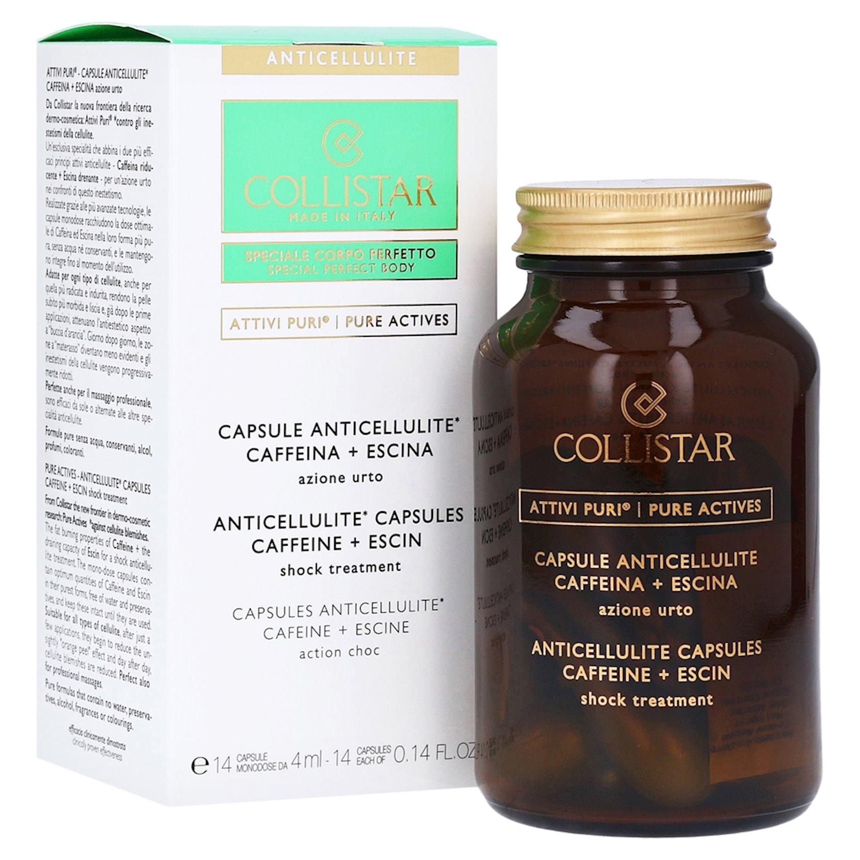 Selülit əleyhinə qarşı kapsullar Collistar Attivi Puri Anticellulite Capsules Caffeine 14x4 ml