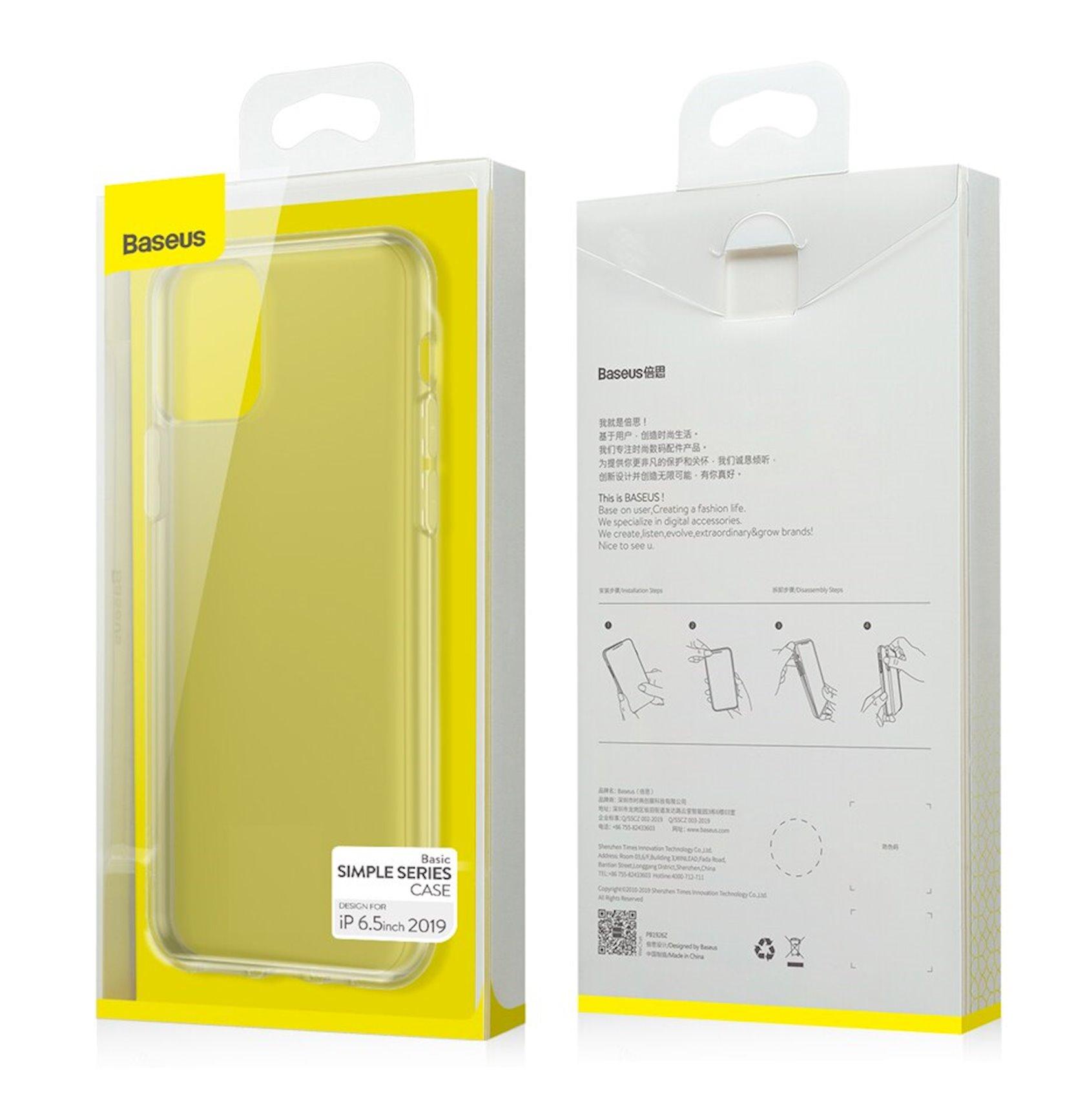 Çexol Baseus Simplicity Series  İphone 11 Pro Max üçün Transparent