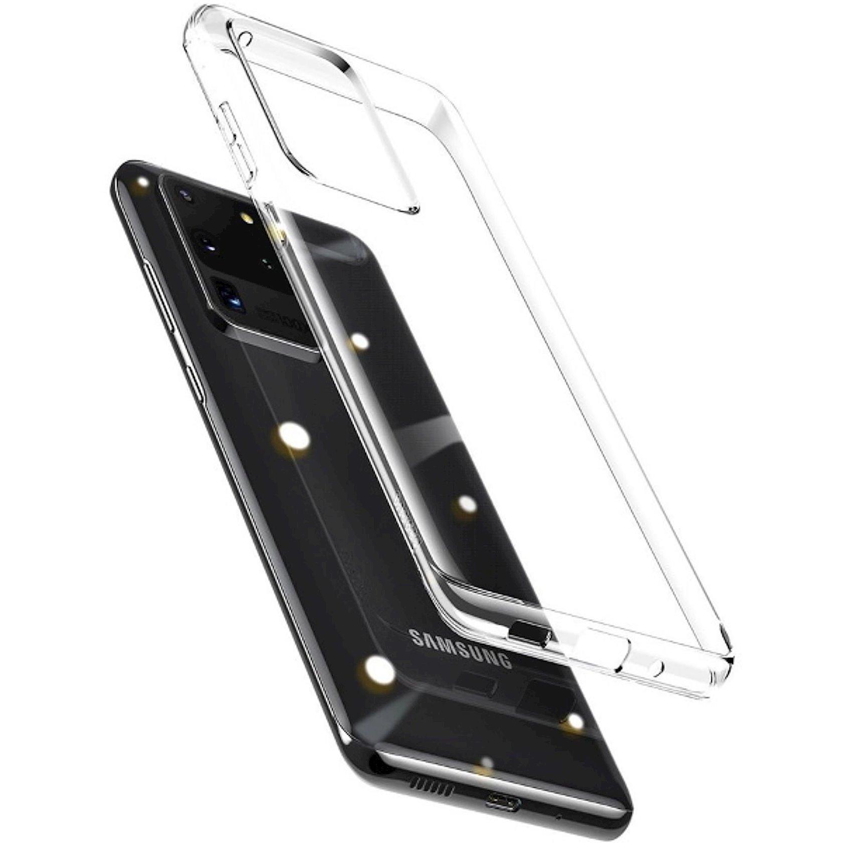 Çexol Baseus Wing Case Samsung S20 Ultra üçün Transparent
