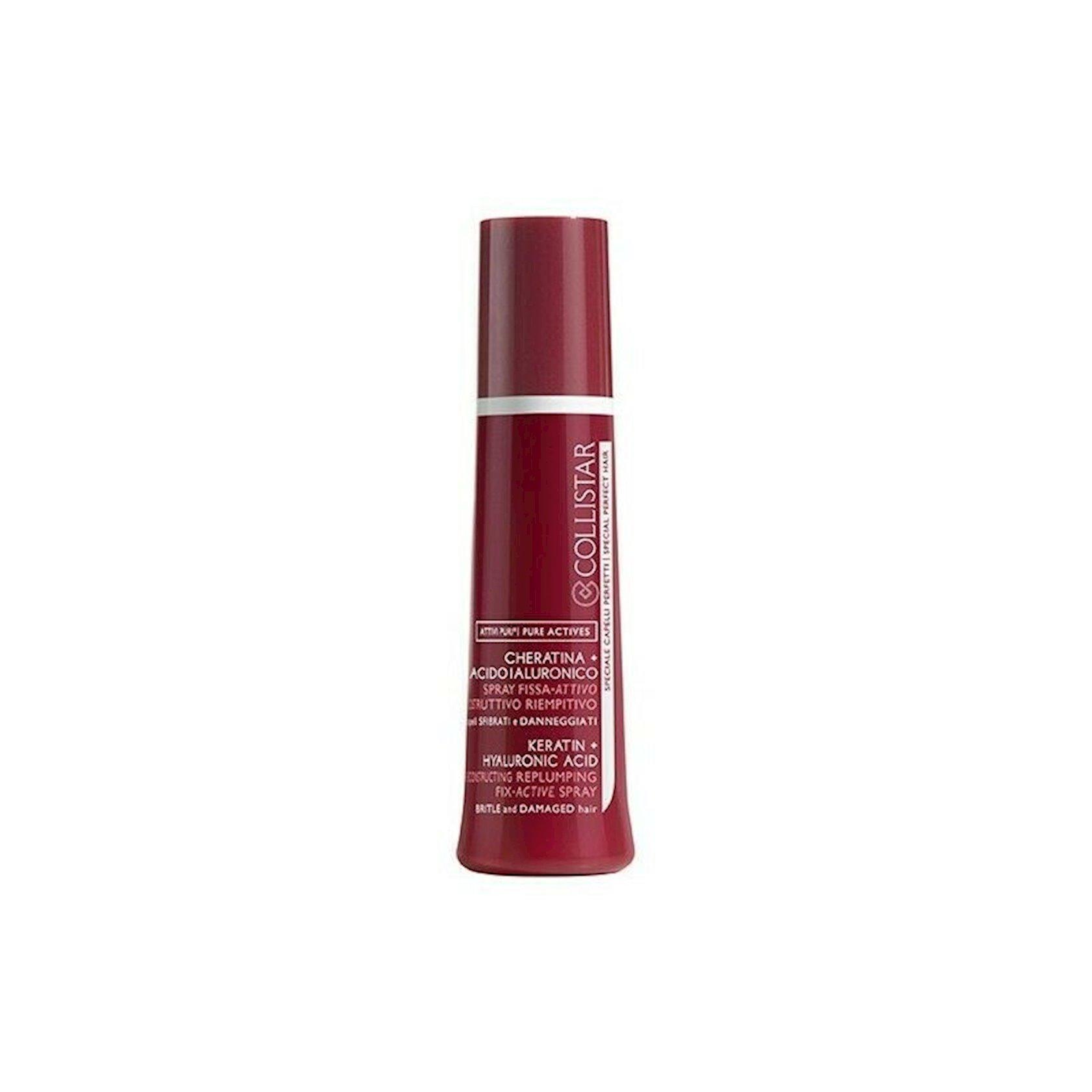 Saç spreyi Collistar Keratin Hyaluronic Acid Recondtructing Replumping Active Spray 100ml