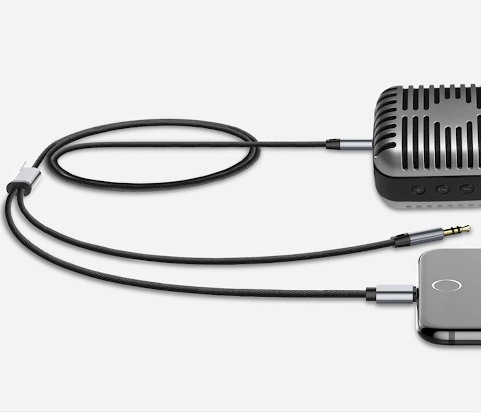 Кабель Baseus L33 apple+3.5 mm to 3.5 mm AUX audio cable Black CALL33-01