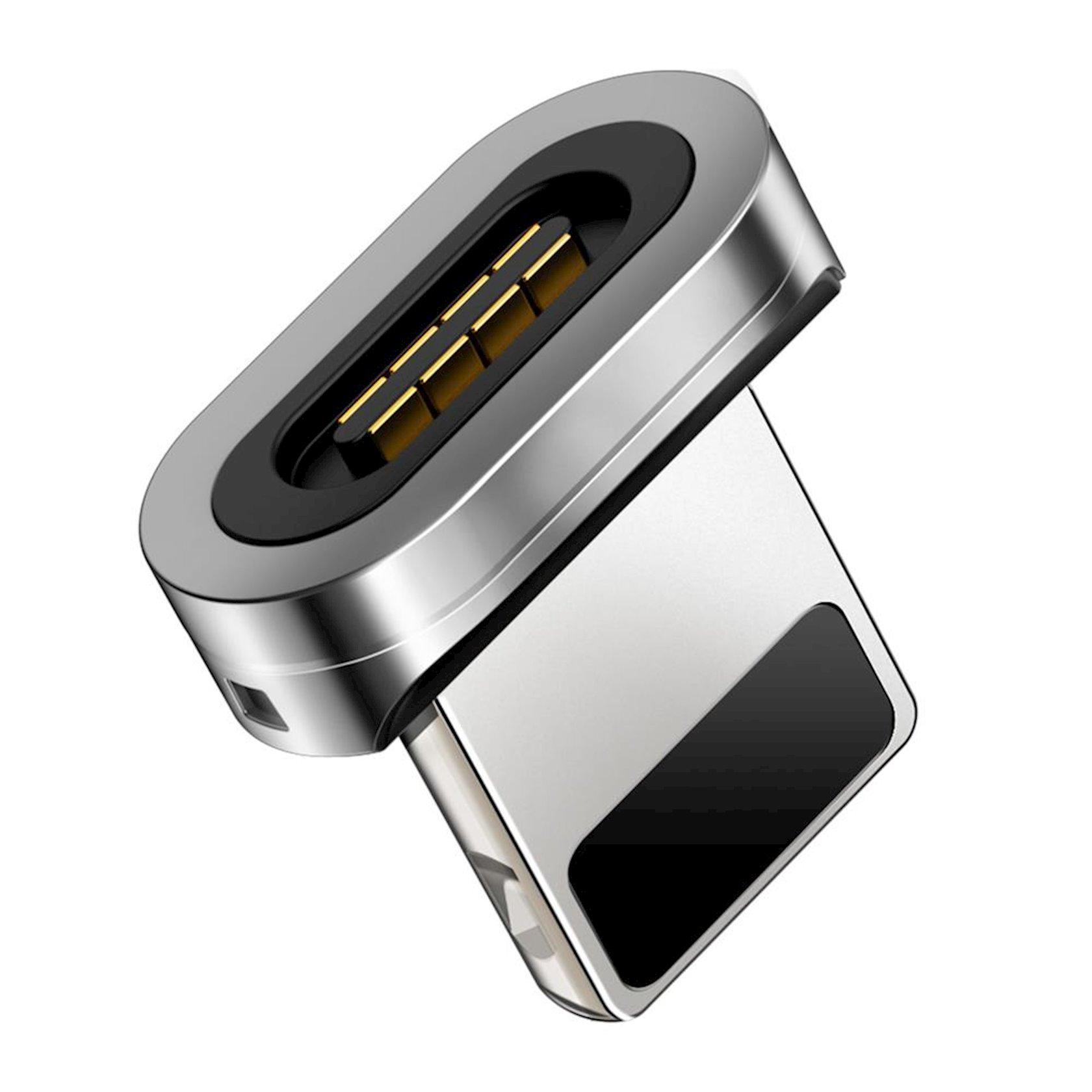 Магнитный адаптер Baseus Zinc magnetic lightning Black CALXC-E