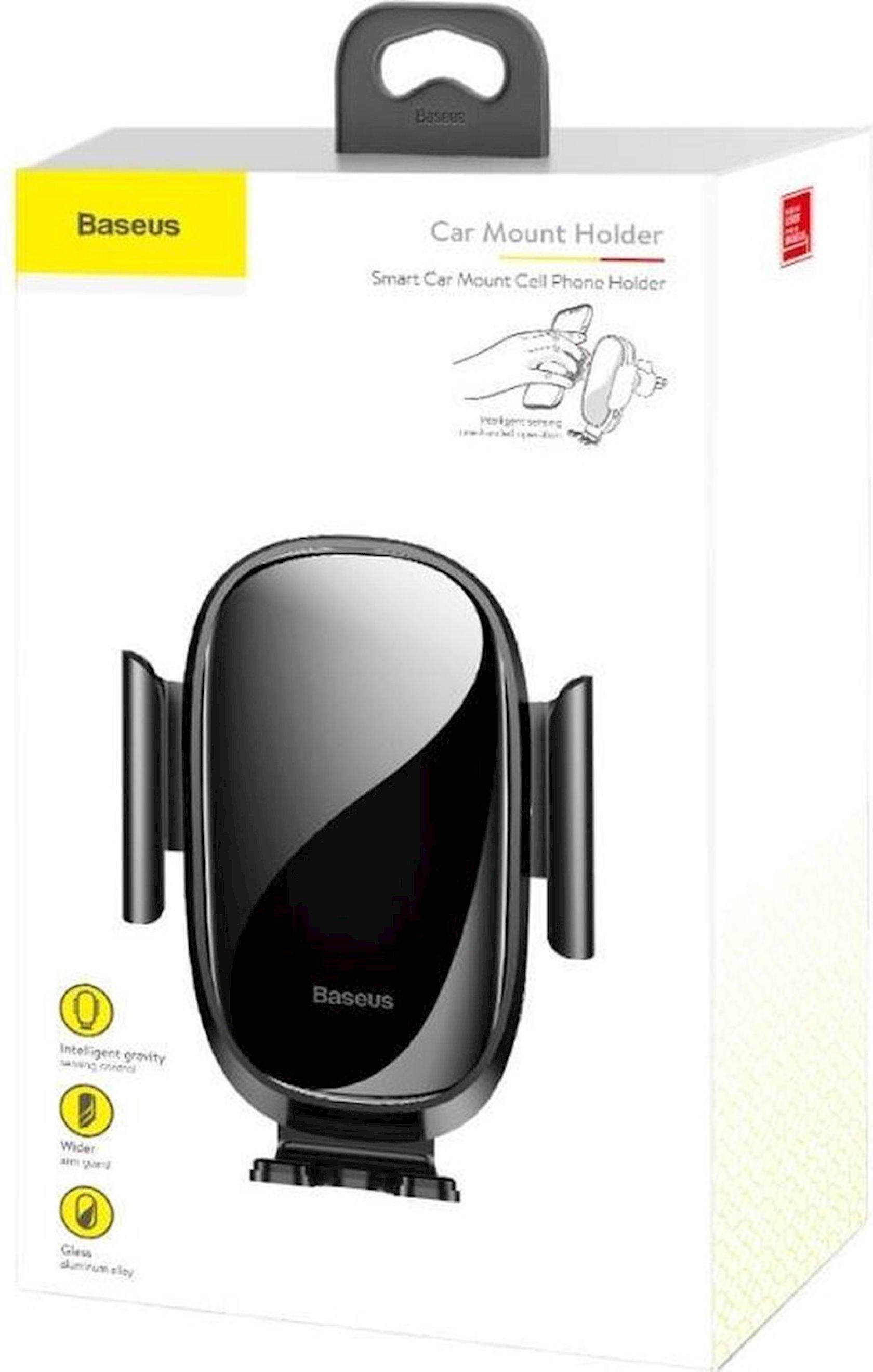Avtomobil üçün telefon tutucusu Baseus Smart Car Mount Cell, qara