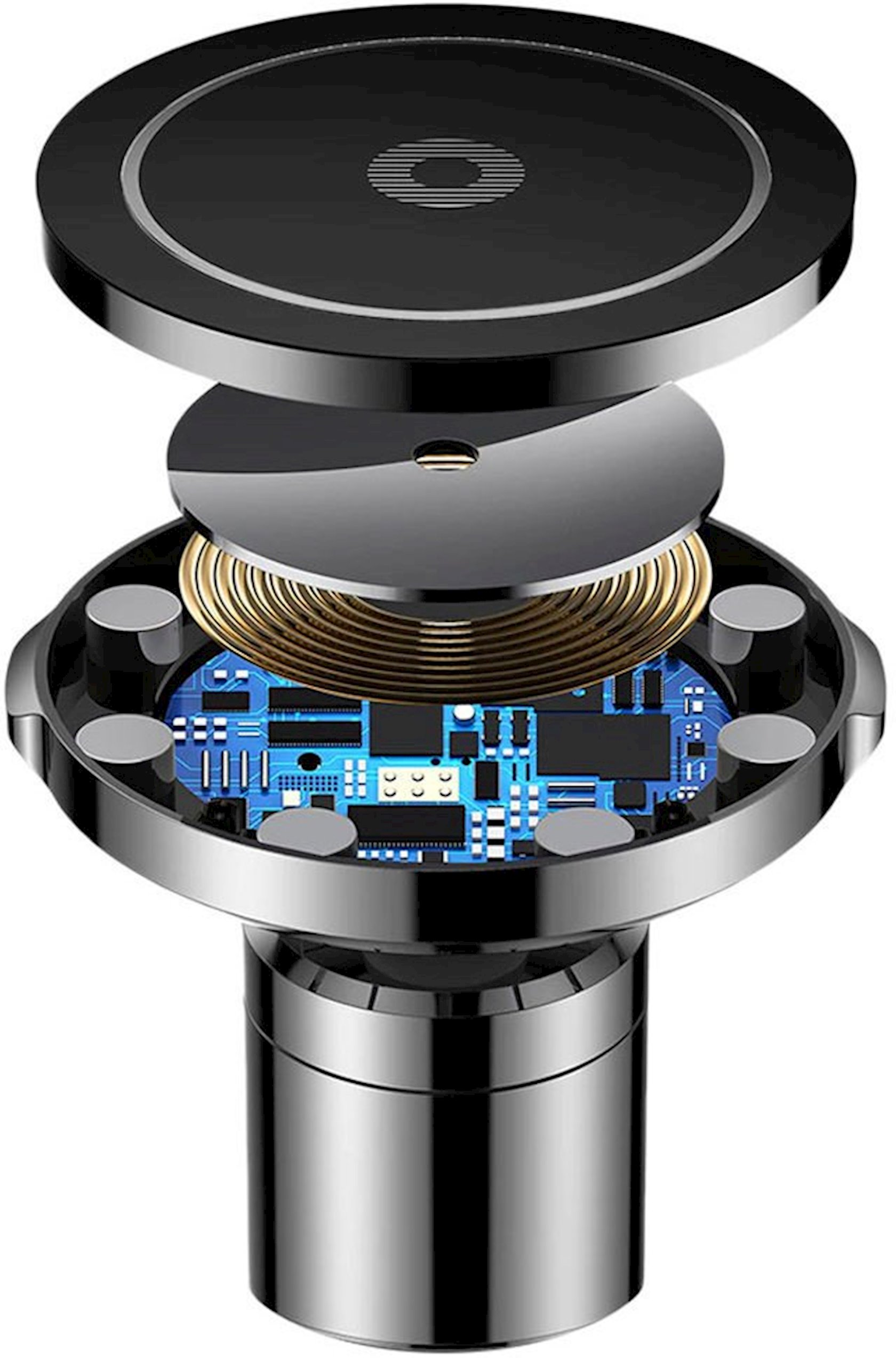 Avtomobil üçün telefon tutucusu Baseus Big Ears Car Mount Wireless Charger, simsiz enerji yığma ilə, WXER-01, qara