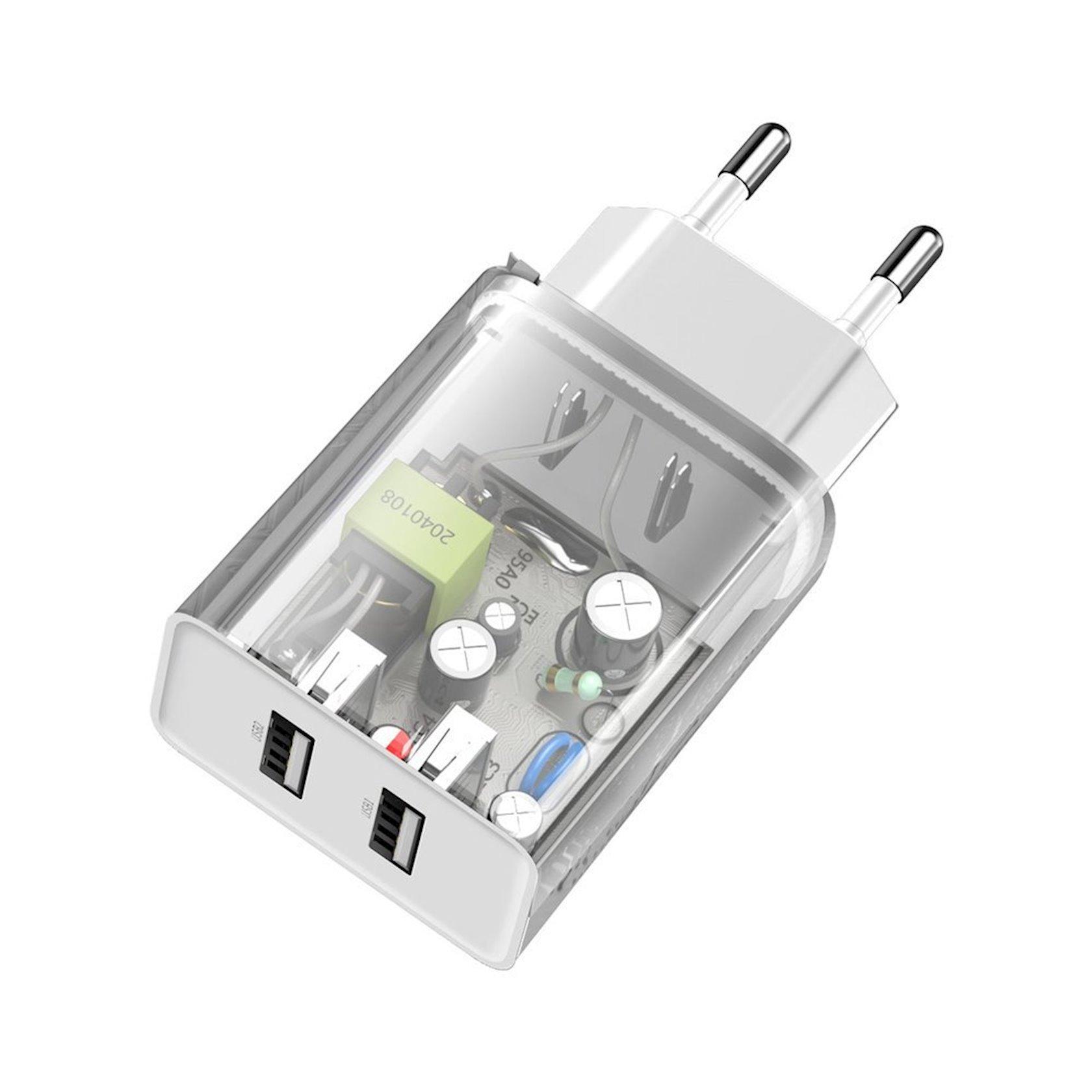 Şəbəkə enerji toplama cihazı Baseus Speed Mini Dual u Charger 10.5 (AB), ağ