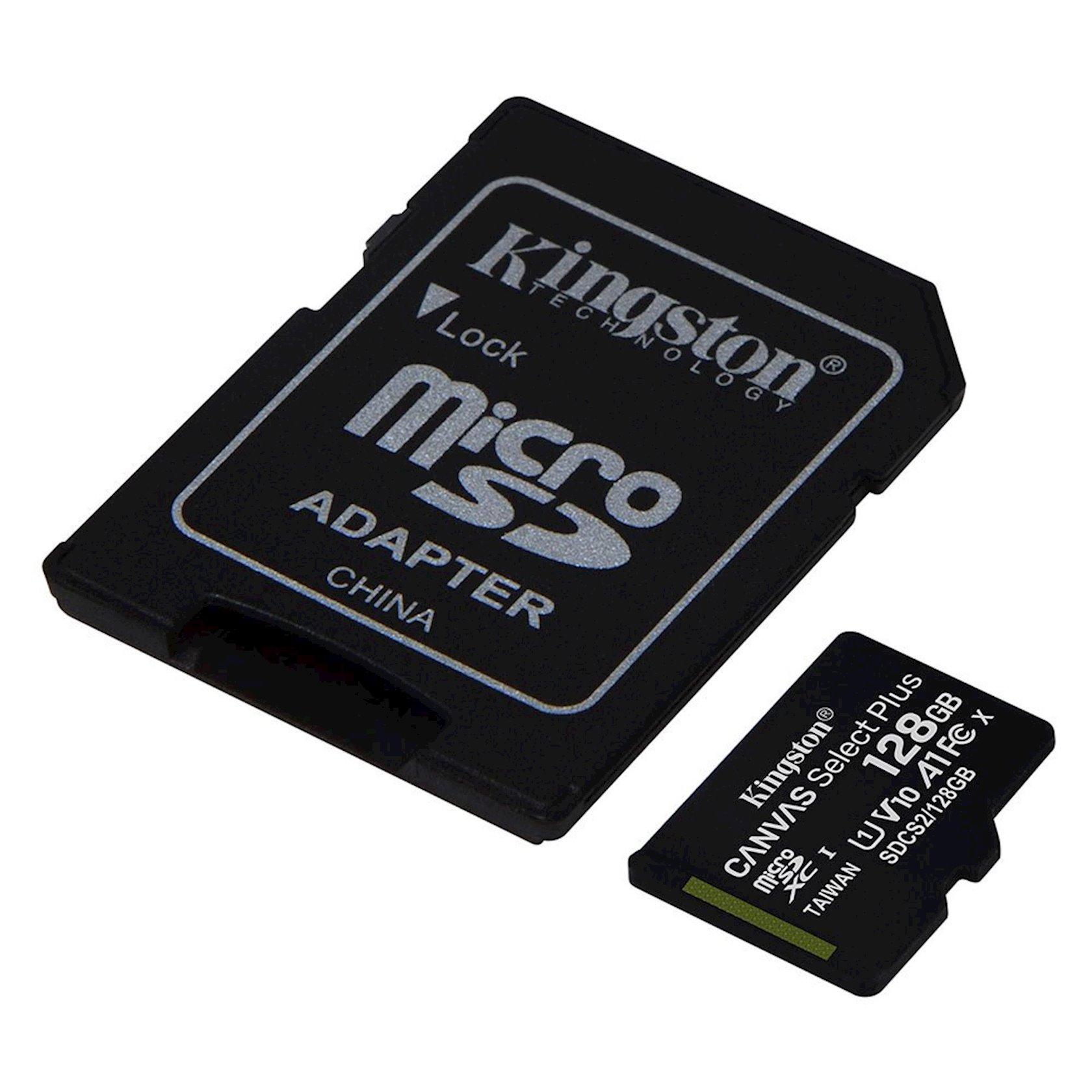 Yaddaş kartı Kingston 128G micSD Select Pls 100R C10
