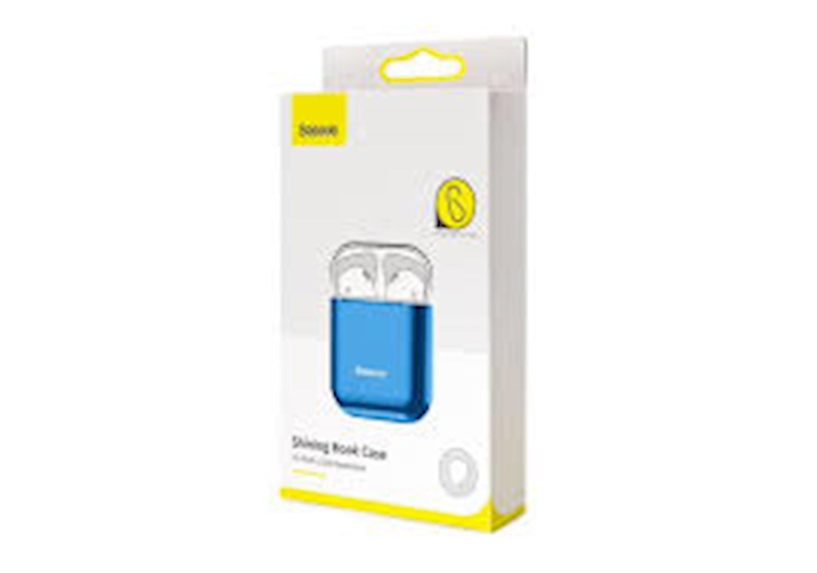 Çexol qulaqlıqlar üçün Baseus Shining Hook Case Apple Airpods 1/2 Blue