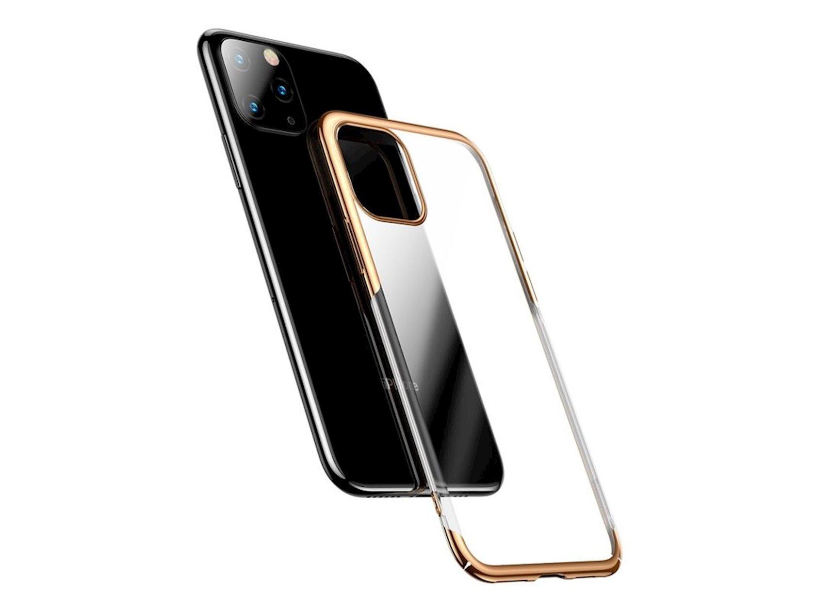 Çexol smartfon üçün Baseus Glitter Apple iPhone 11 Pro Gold