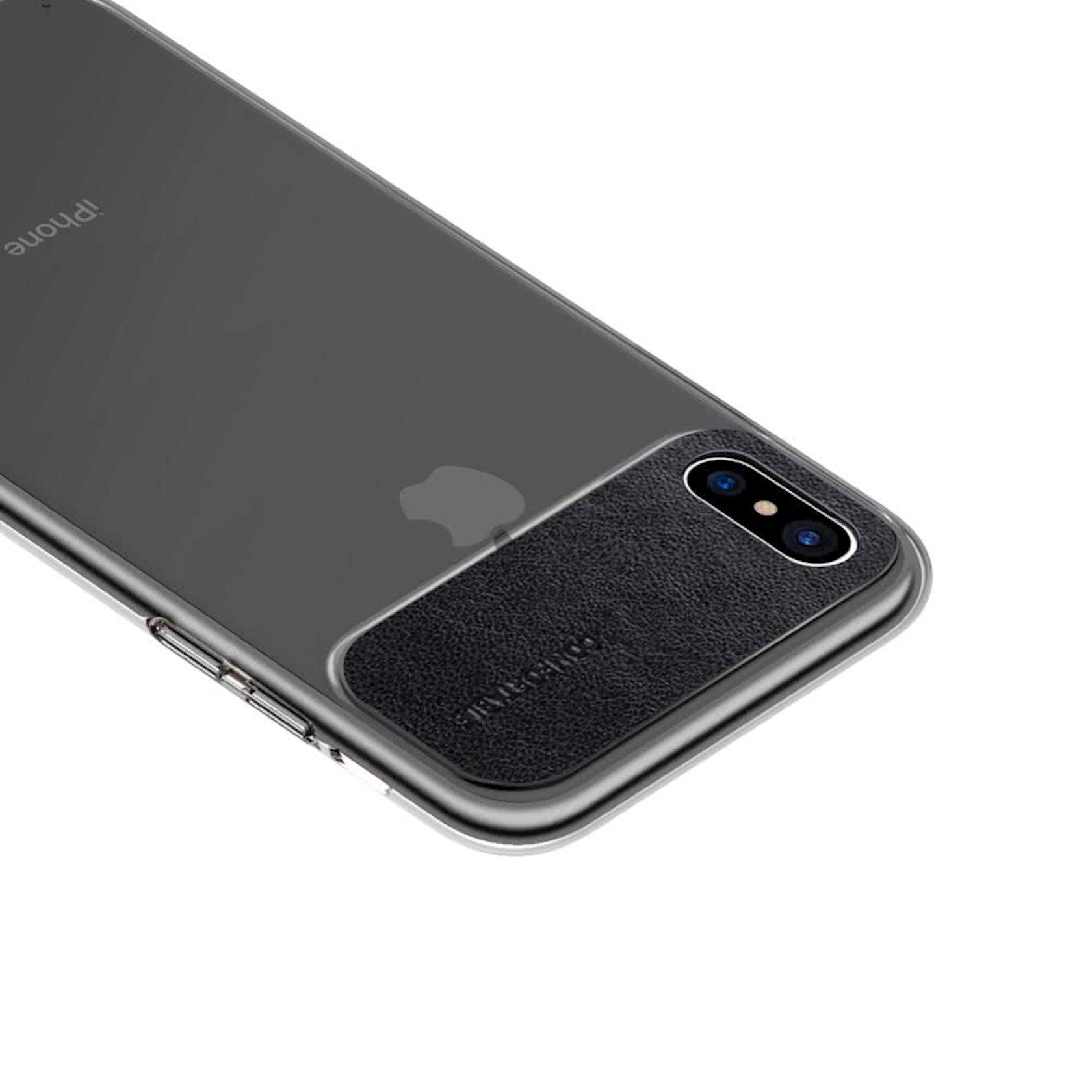 Çexol smartfon üçün Baseus Comfortable Series Apple iPhone Black X/XS