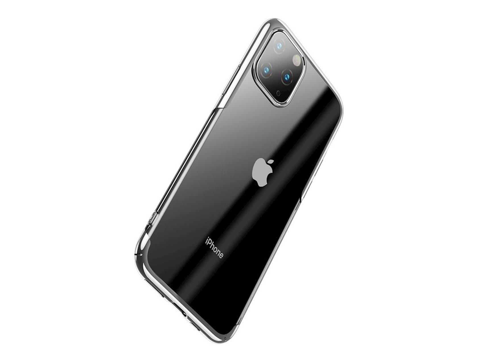 Çexol smartfon üçün Baseus Glitter Apple iPhone 11 Pro Max Silver