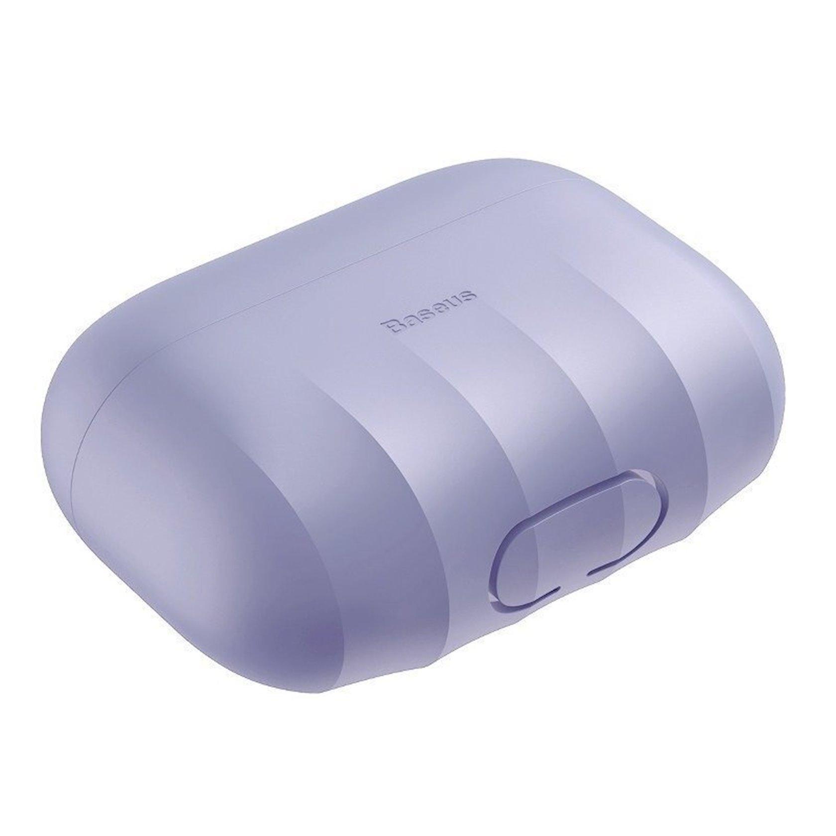 Çexol qulaqlıqlar üçün Baseus Shell Pattern Purple Apple Airpods Pro