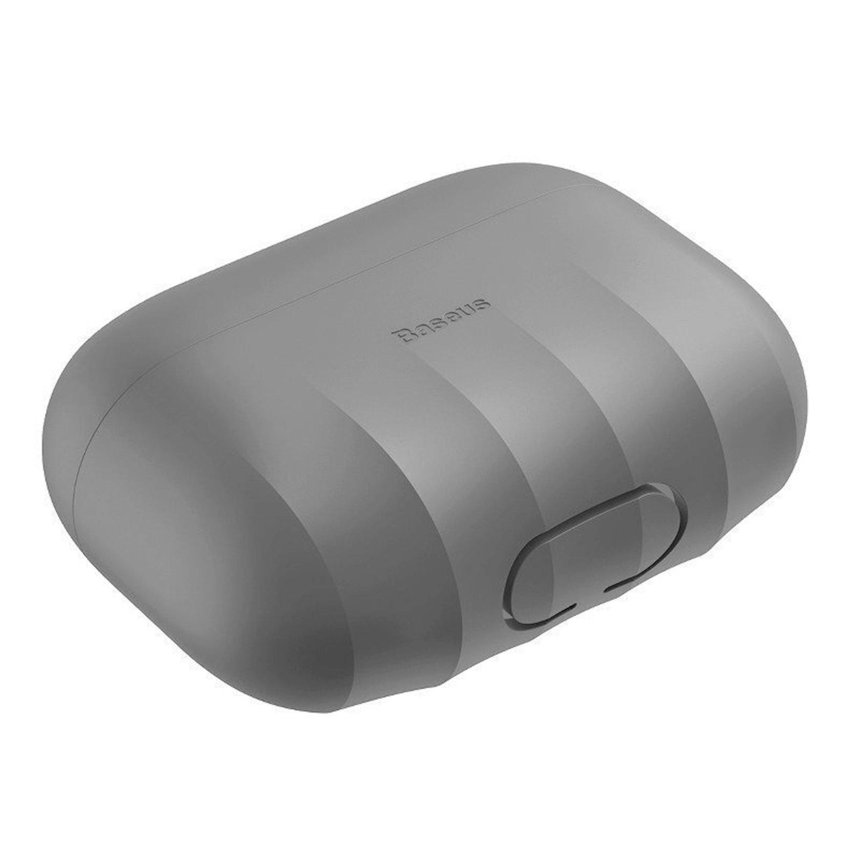 Çexol qulaqlıqlar üçün Baseus Shell Pattern Grey Apple Airpods Pro