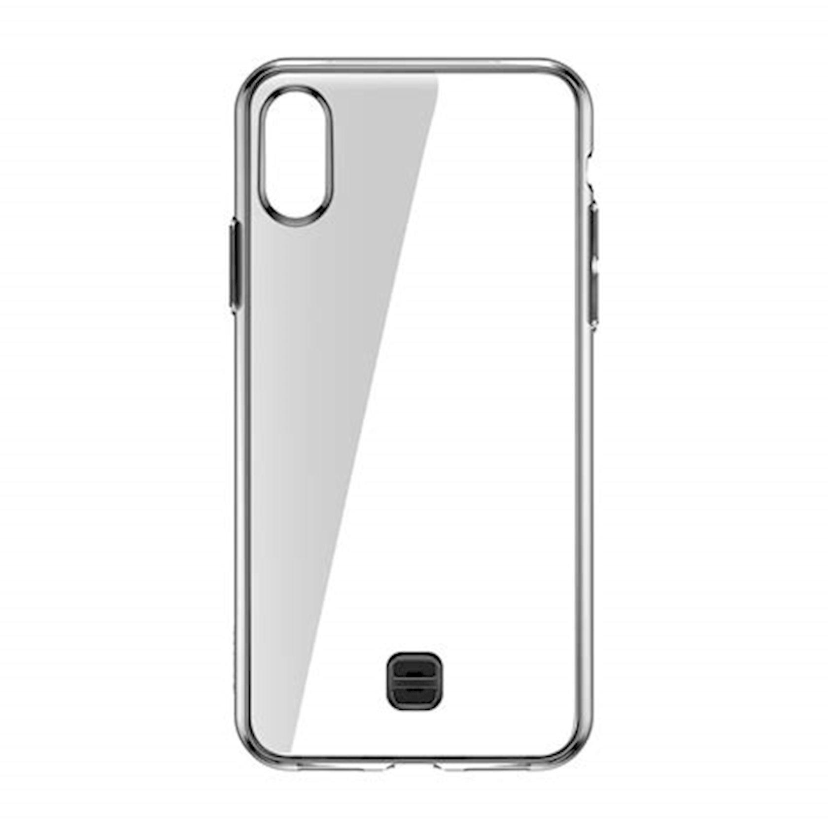 Super nazik çexol-qapaq Baseus WIAPIPH58-QA01 əl üçün qayış ilə  Apple iPhone X / Xs üçün, şəffaf