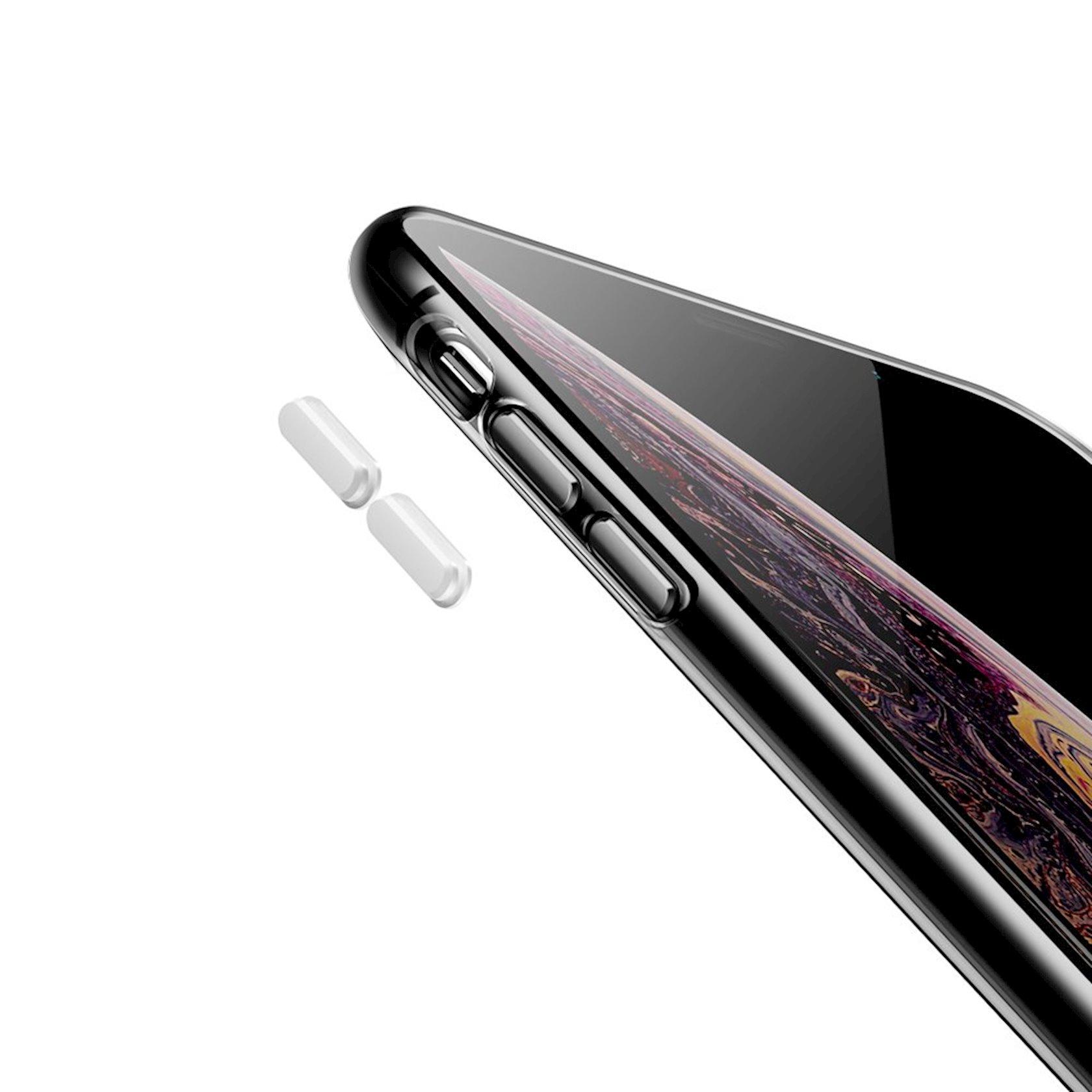 Çexol Baseus WIAPIPH58-QA02 TPU və PC əl qayışı ilə Iphone XS / X  5, 8 duym üçün, şəffaf