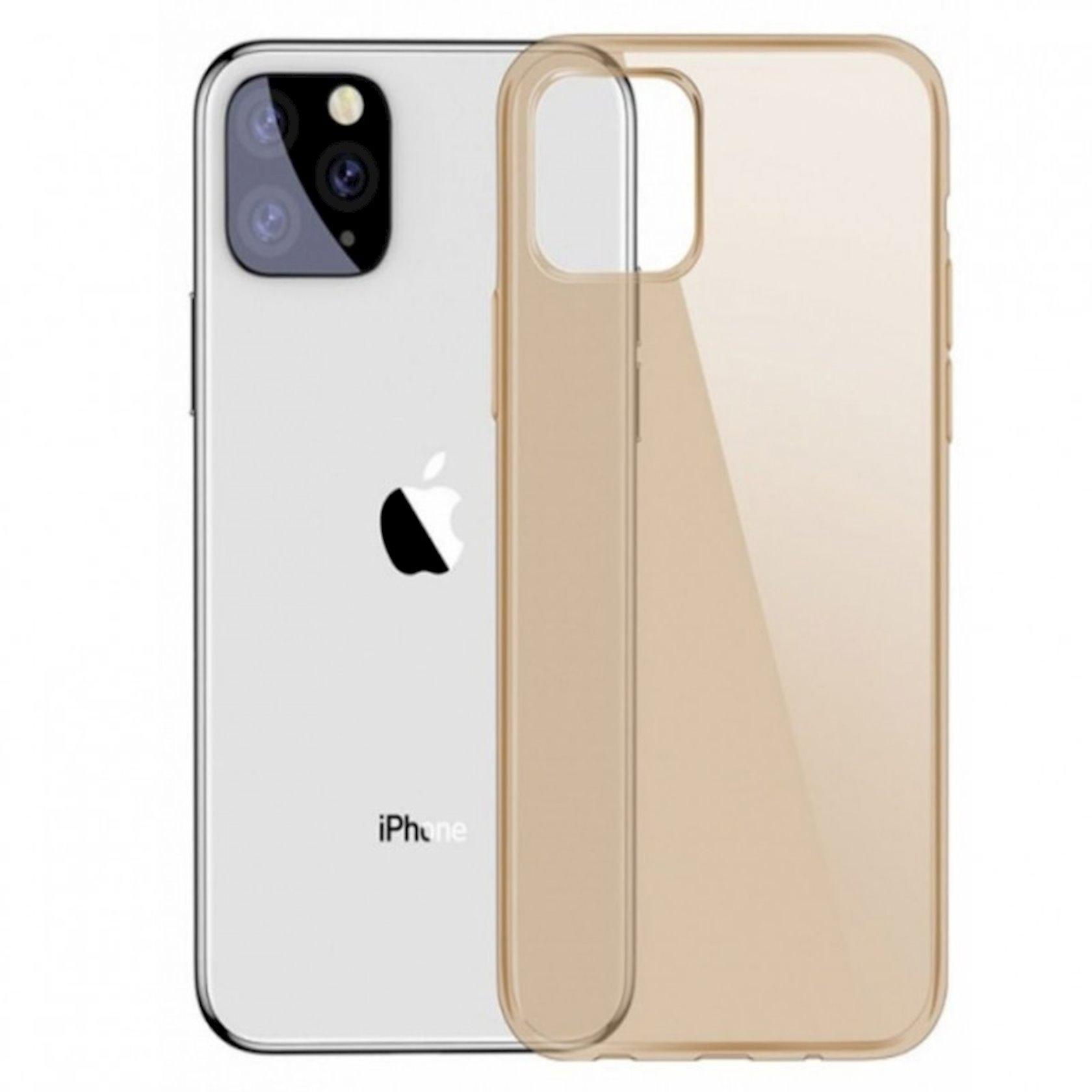 Çexol Baseus Simplicity Series Basic Model iPhone 11 Pro 5.8 inch 2019, şəffaf qızılı