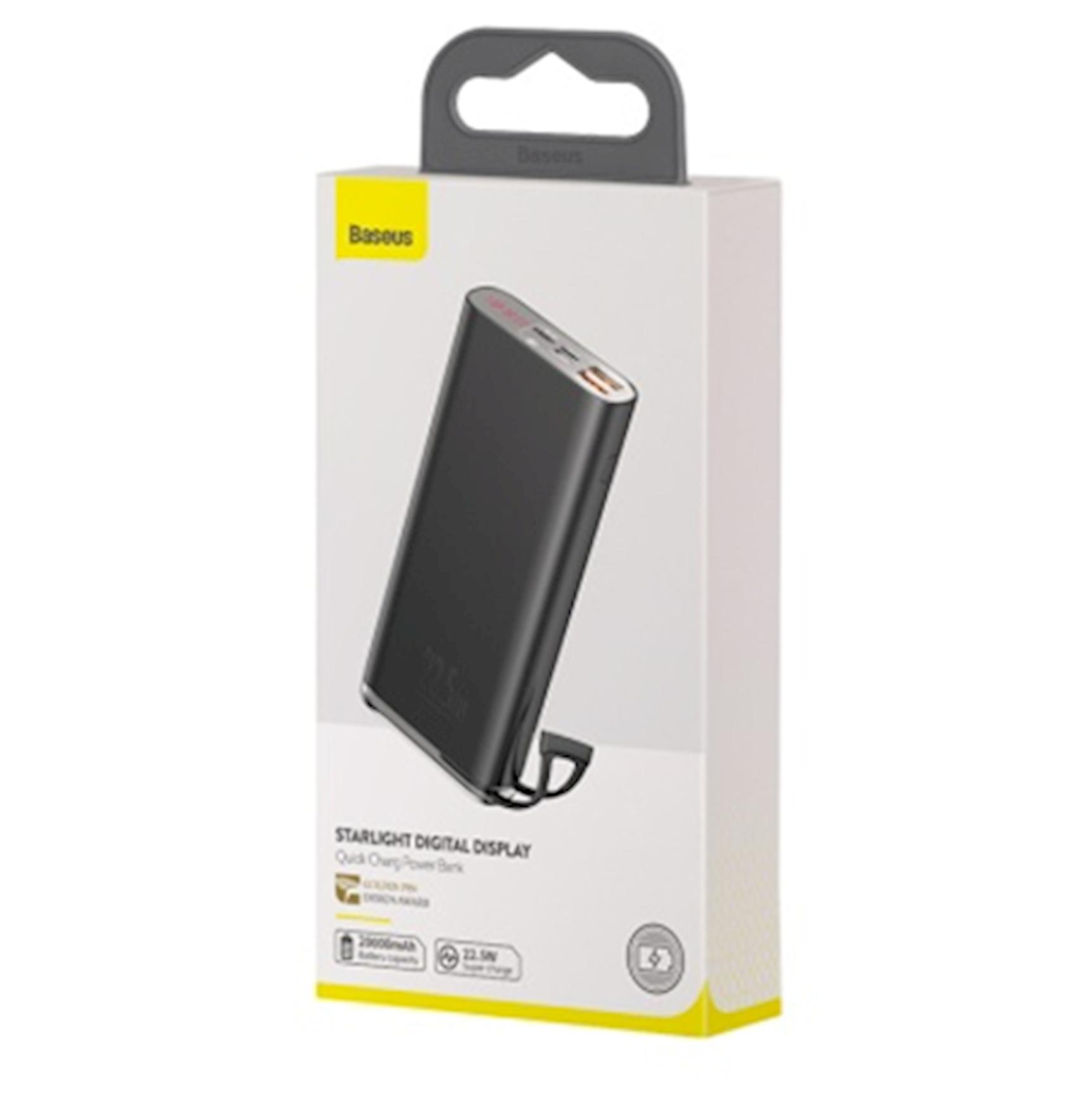 Powerbank Baseus Starlight Digital Display Quick Charge   20000mAh 22.5W PPXC-01