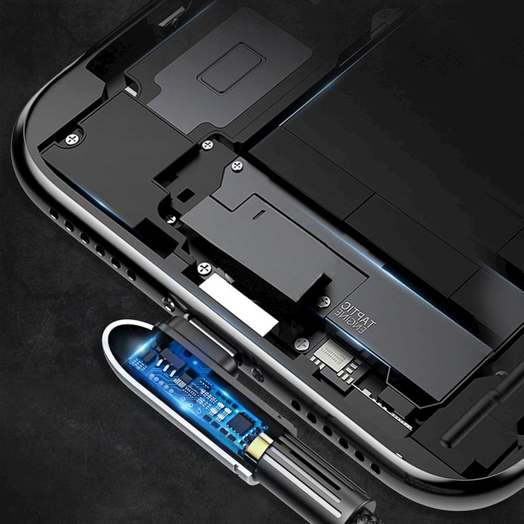 Enerji yığma kabeli Baseus Exciting Mobile Game Cable USB 2.4A, qara