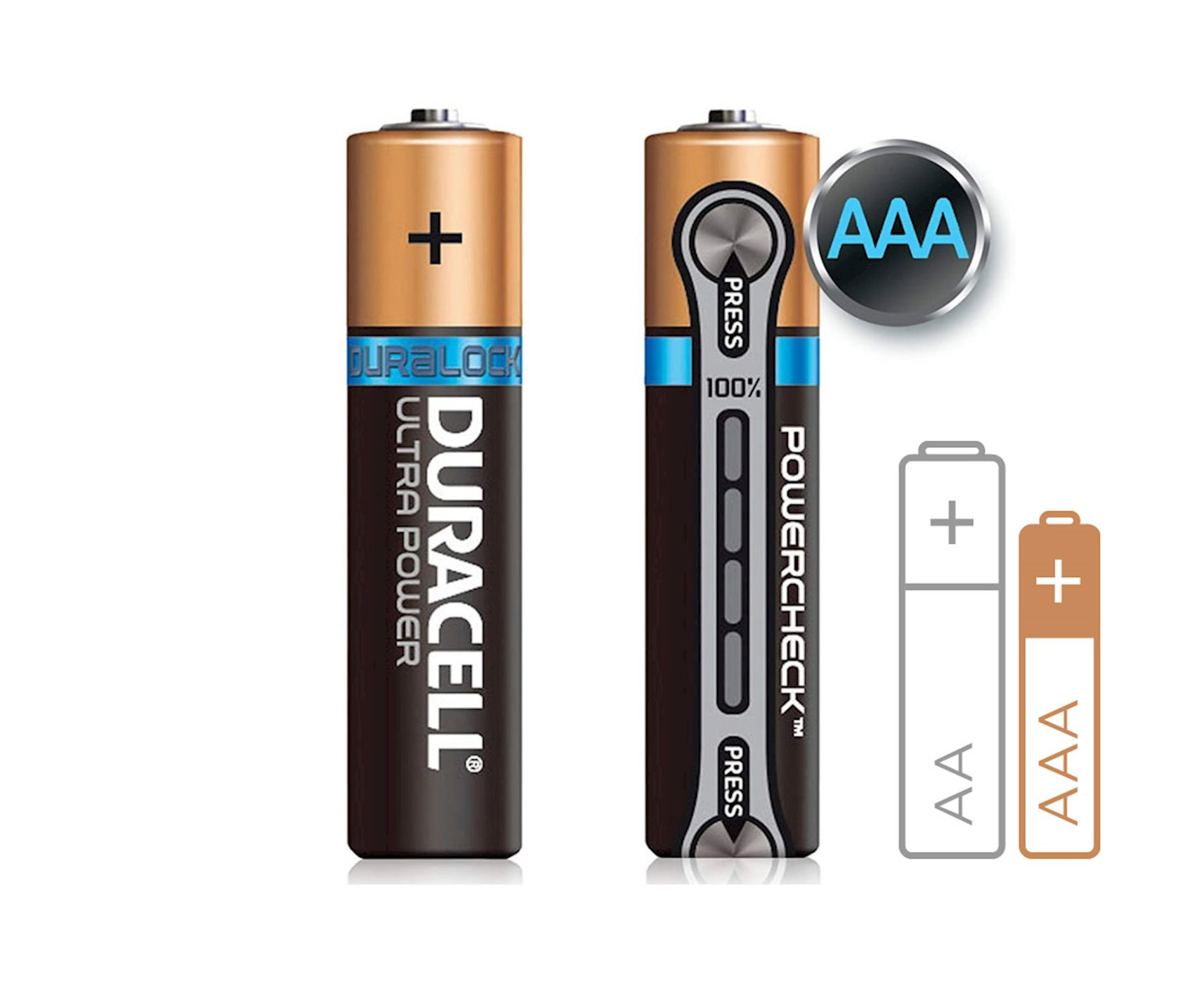 Batareya Duracell Ultra Power AAA LR03 MN2400, 1.5V, 4 əd, 78x84 mm, 44 q