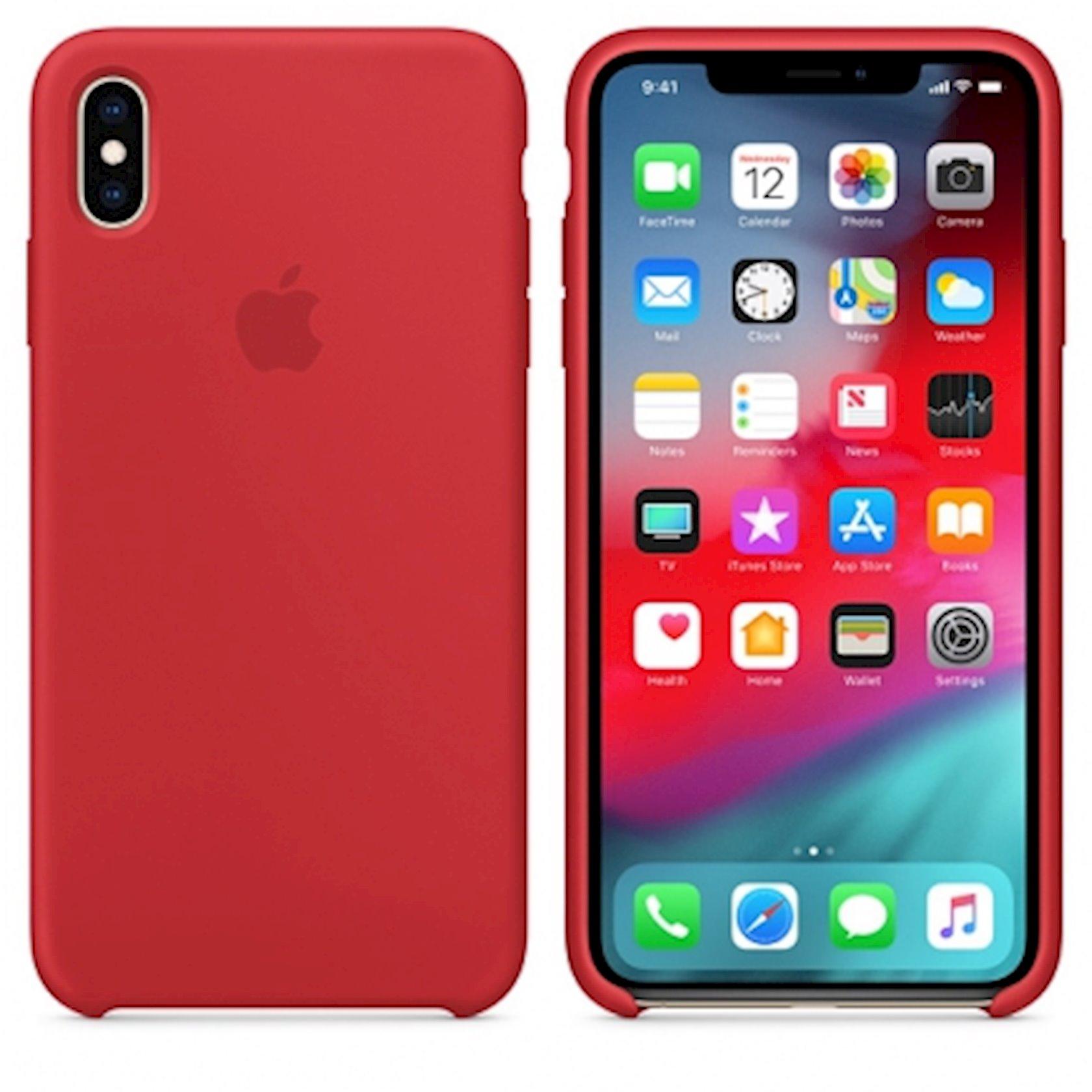 Çexol Silicone Case Apple iPhone XS Max üçün  Red