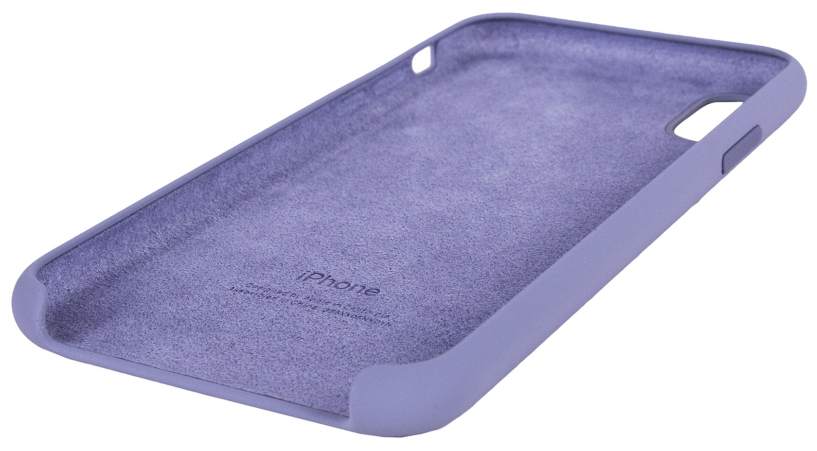 Çexol Apple iPhone XS Max Silicone Case - Lavender Gray