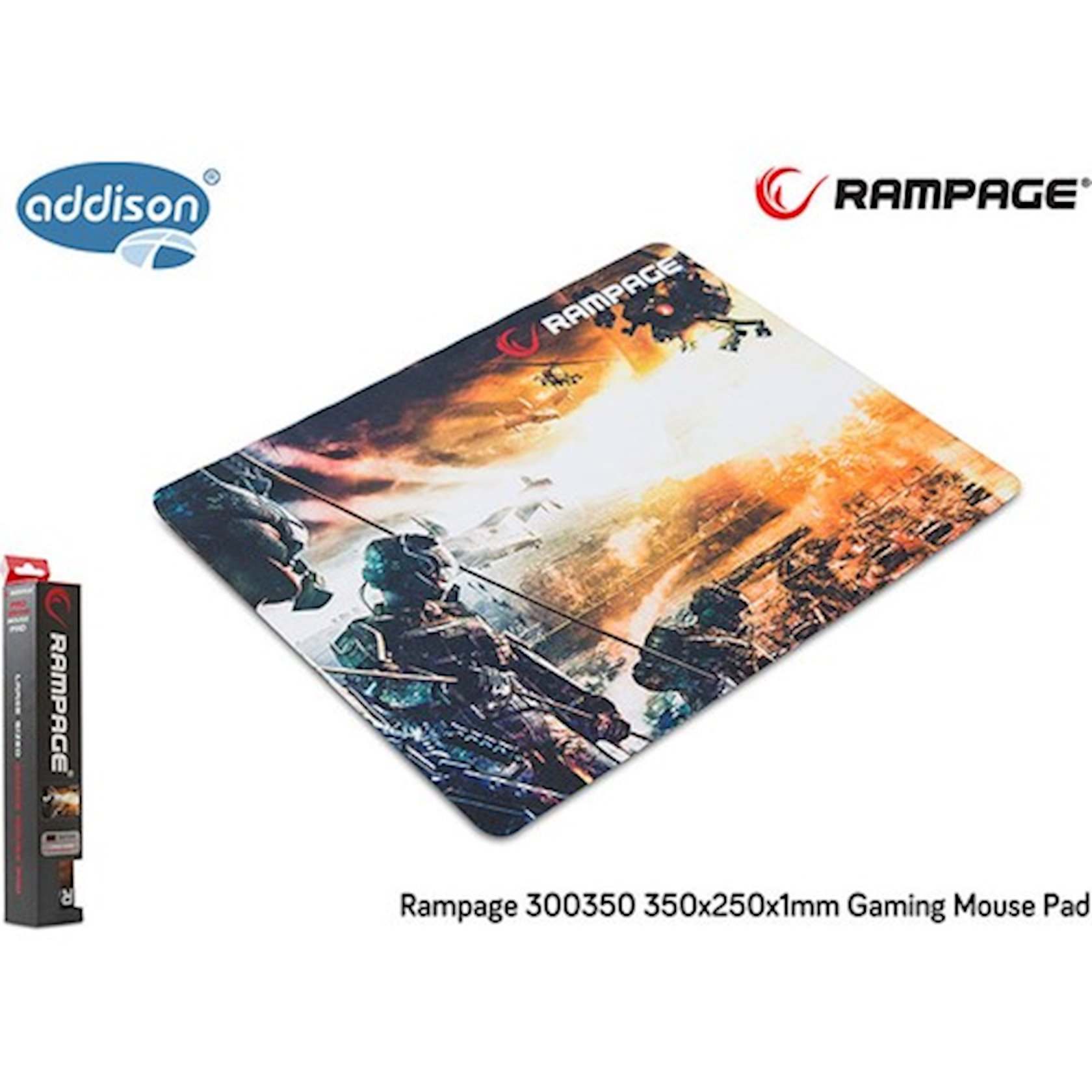 Siçan altlığı Addison Rampage 300350 Gaming