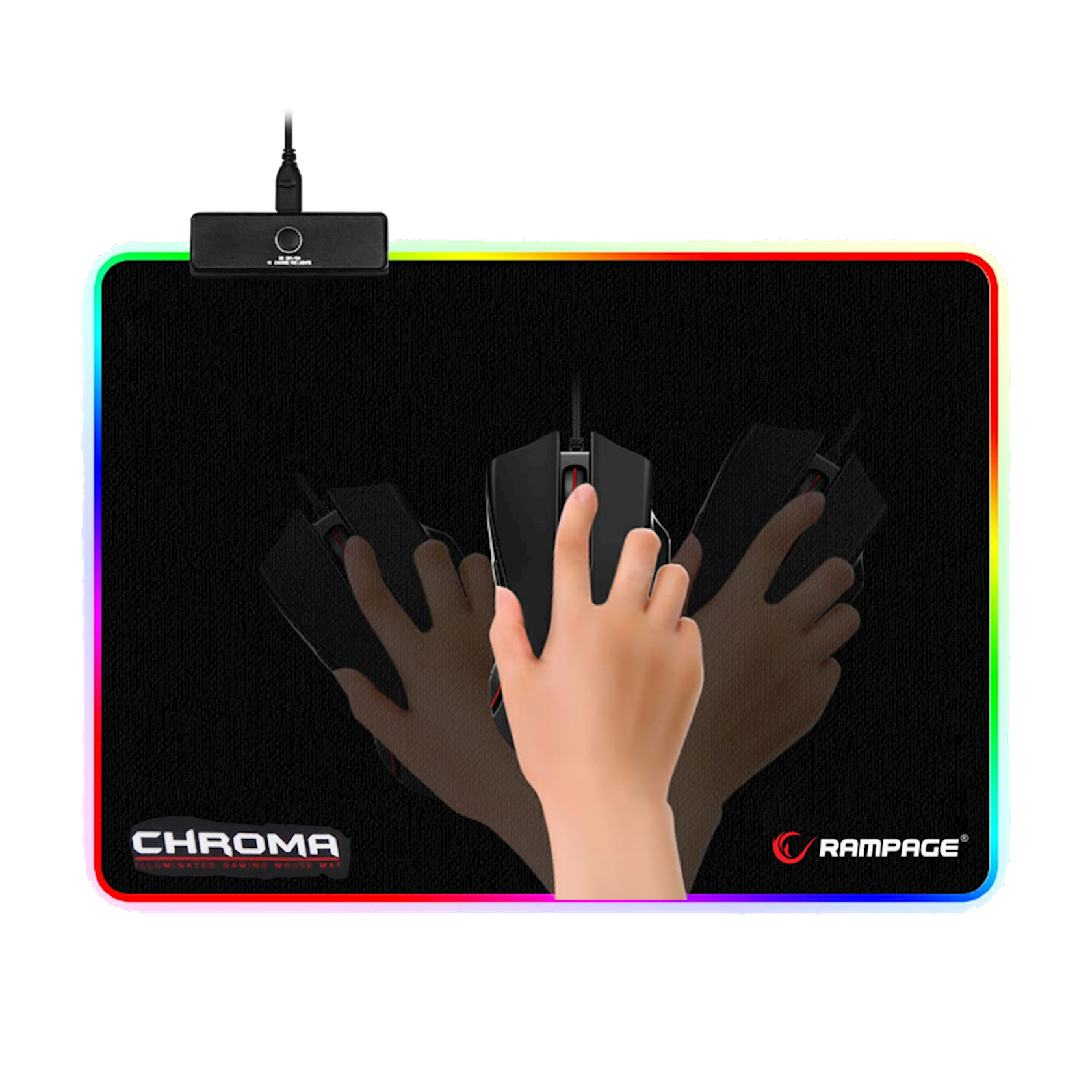 Siçan altlığı Rampage MP-18 RGB