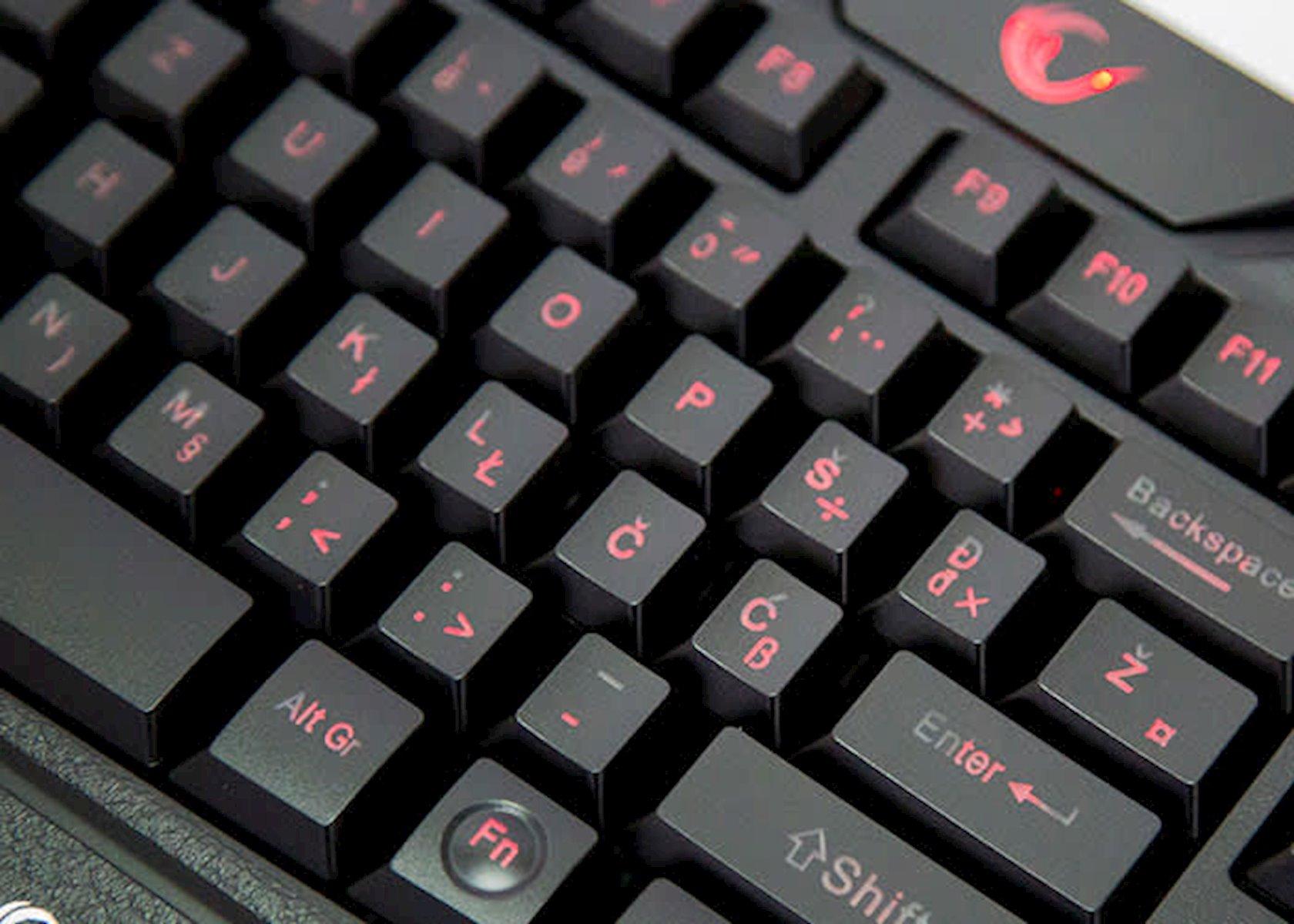 Klaviatura+Siçan Rampage KM-R77 Black Usb 3 Different Led Gaming
