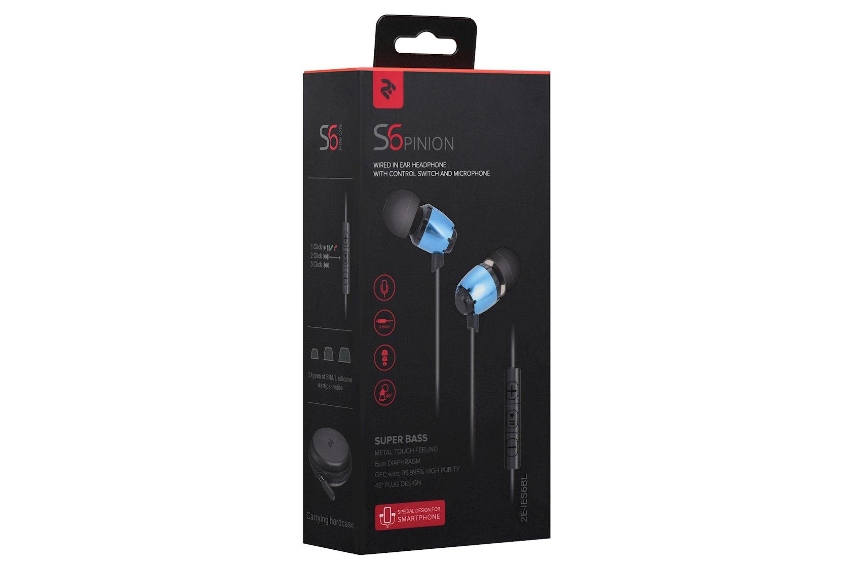 Simli qulaqlıqlar 2E S6 Pinion Blue (2E-IES6BL)