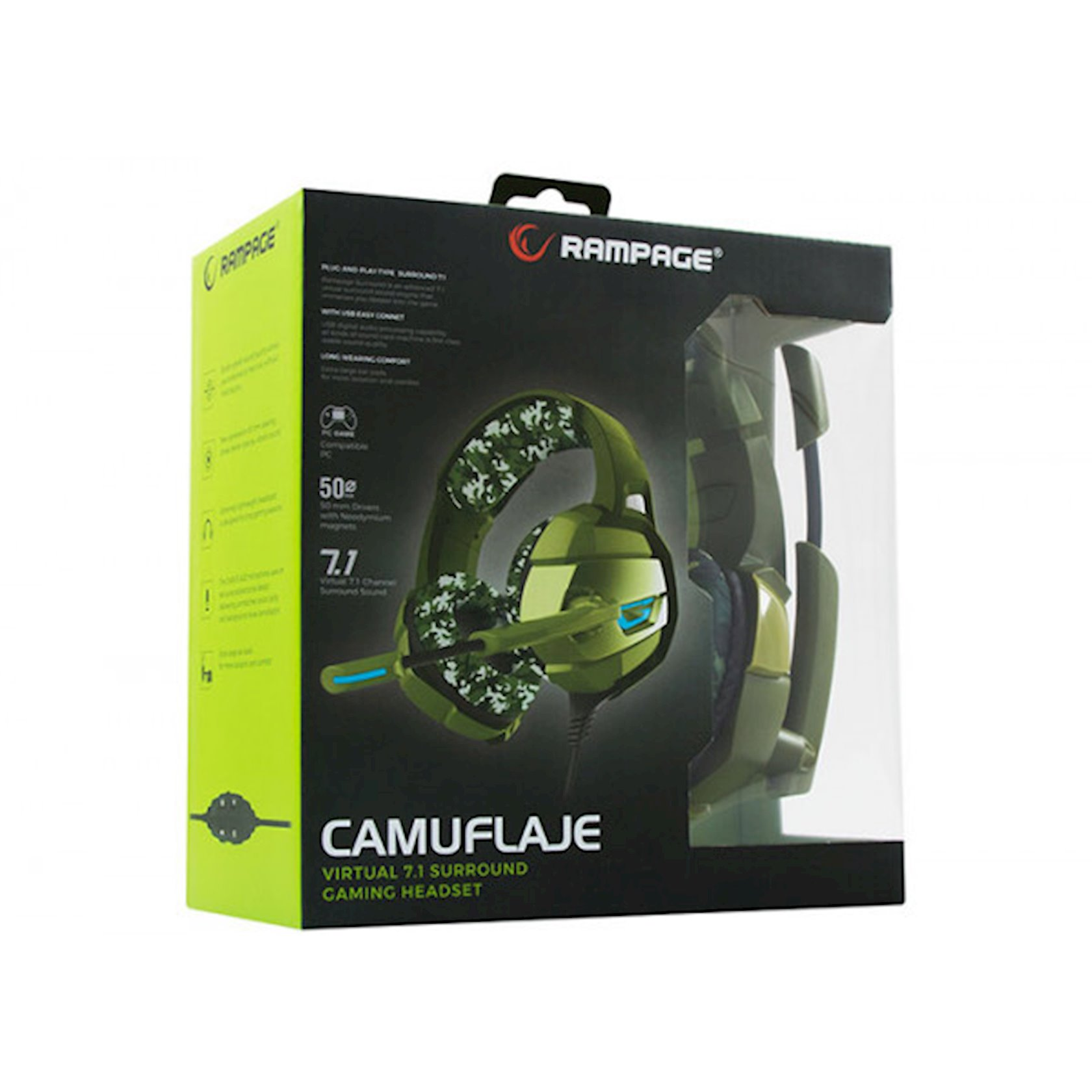 Qulaqlıq-qarnitur Rampage RM-K5