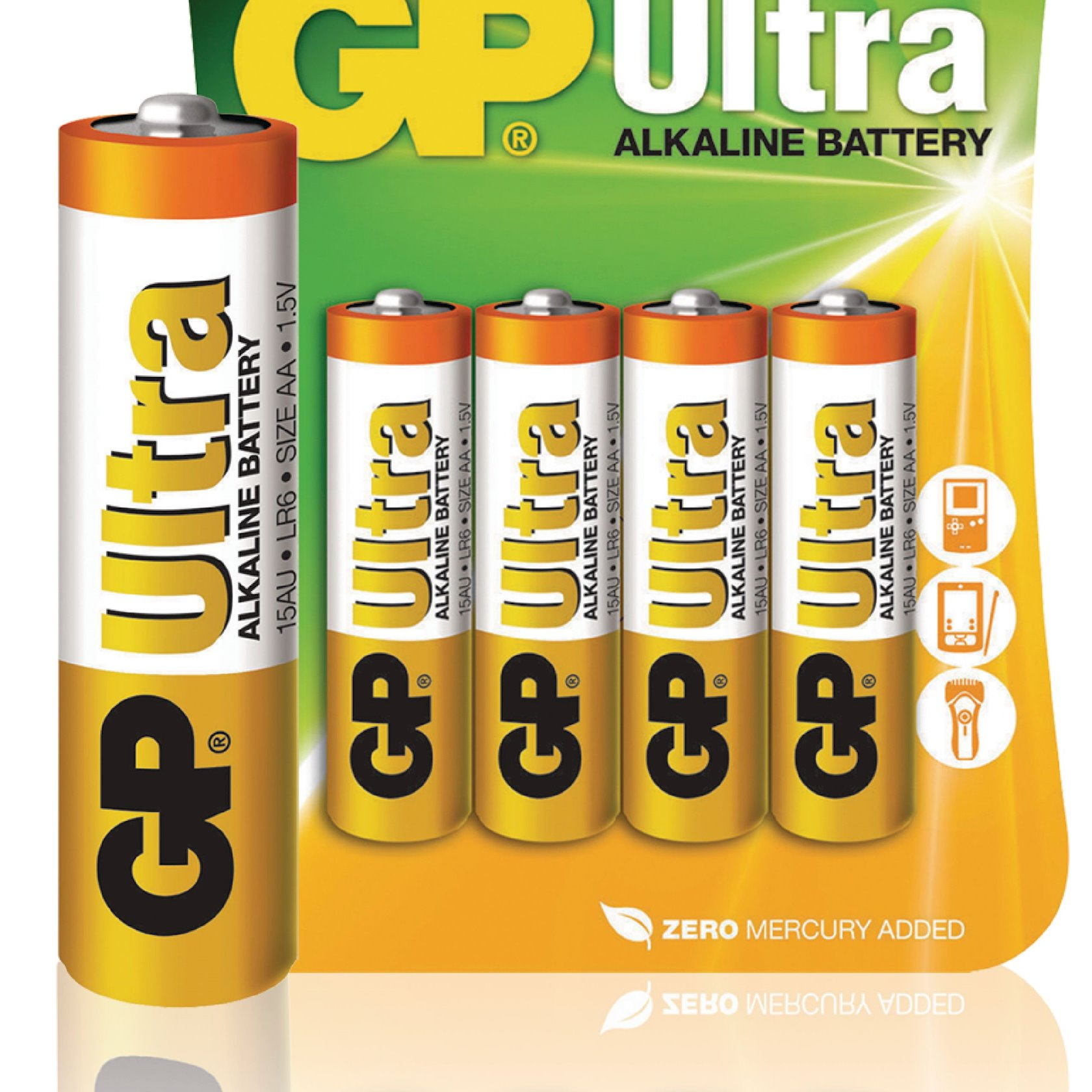 Batareya GP AA 1.5V (LR6) Ultra Alkaline 15AU-U4 4 əd