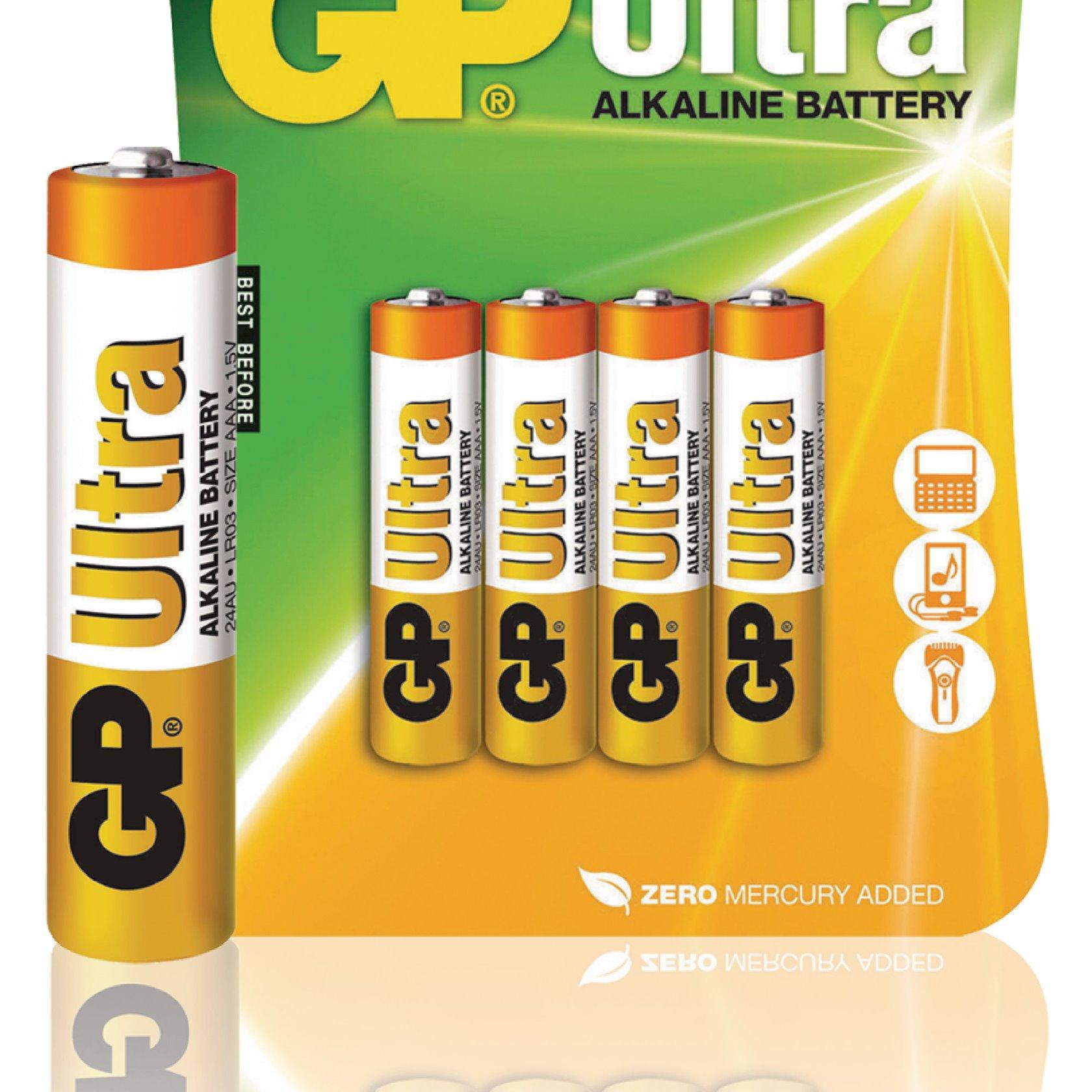 Batareya GP AAA 1.5V (LR03) Ultra Alkaline 24AU-U4 4 əd